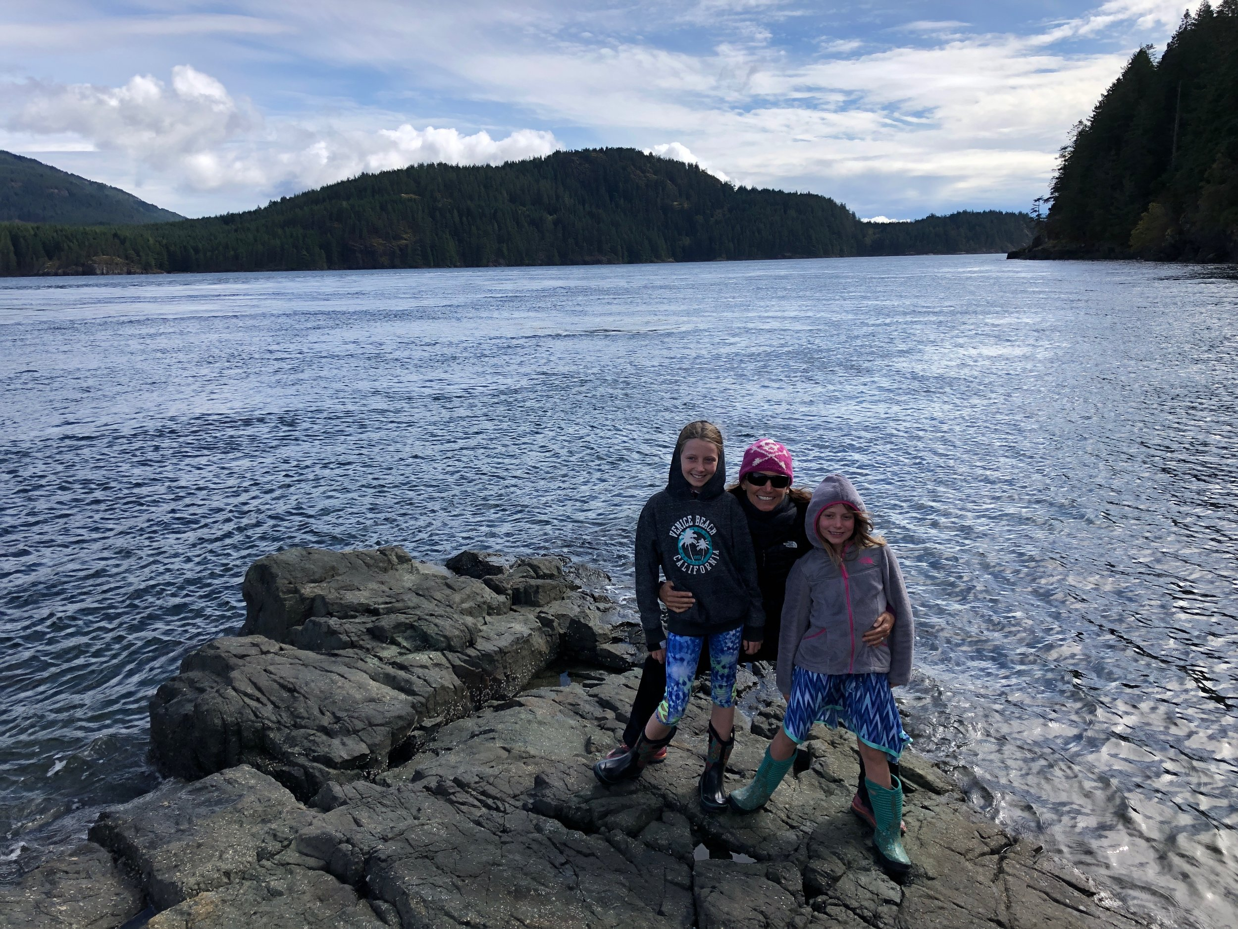 We had fun checking out the tide pools in the rocks