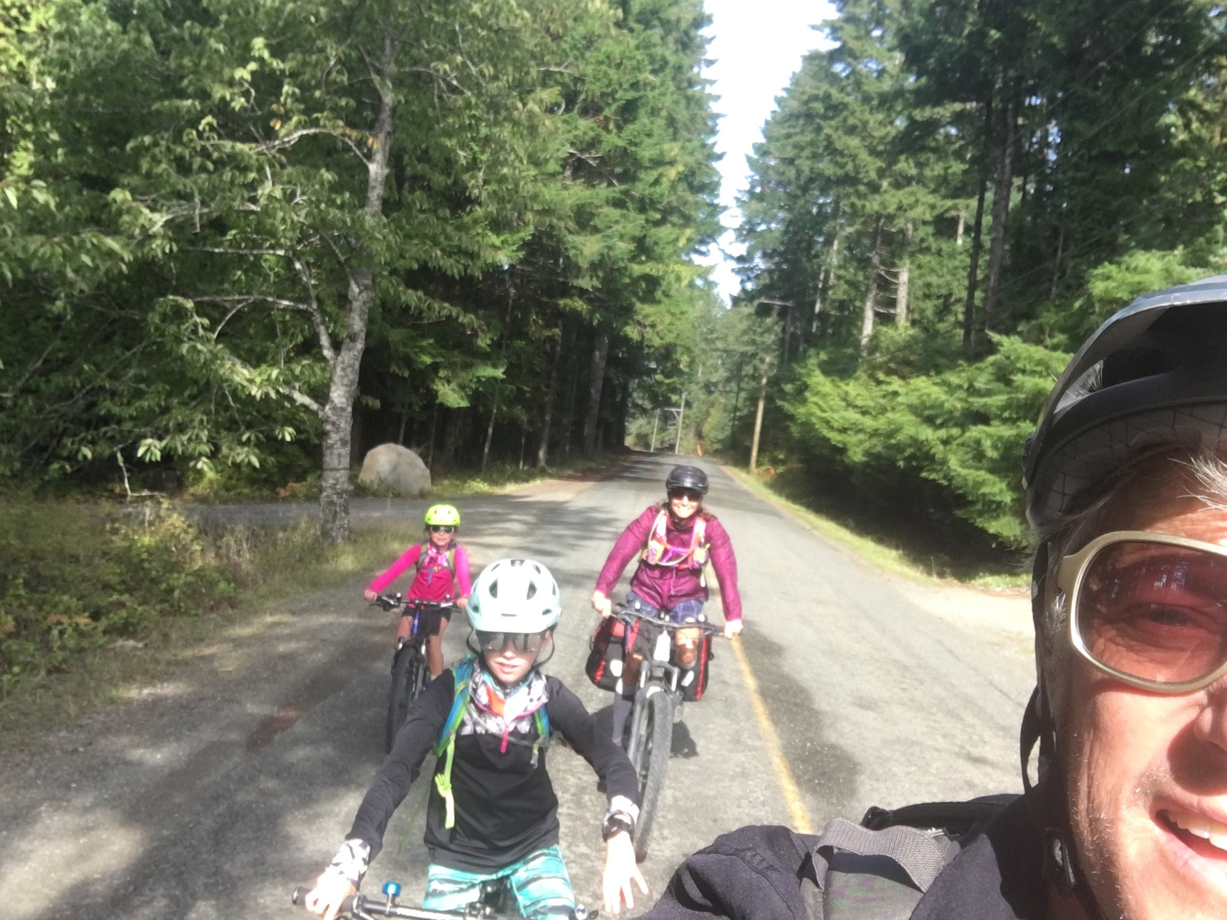 Biking on Denman Island we enjoyed rolling hills and quiet roads with few cars