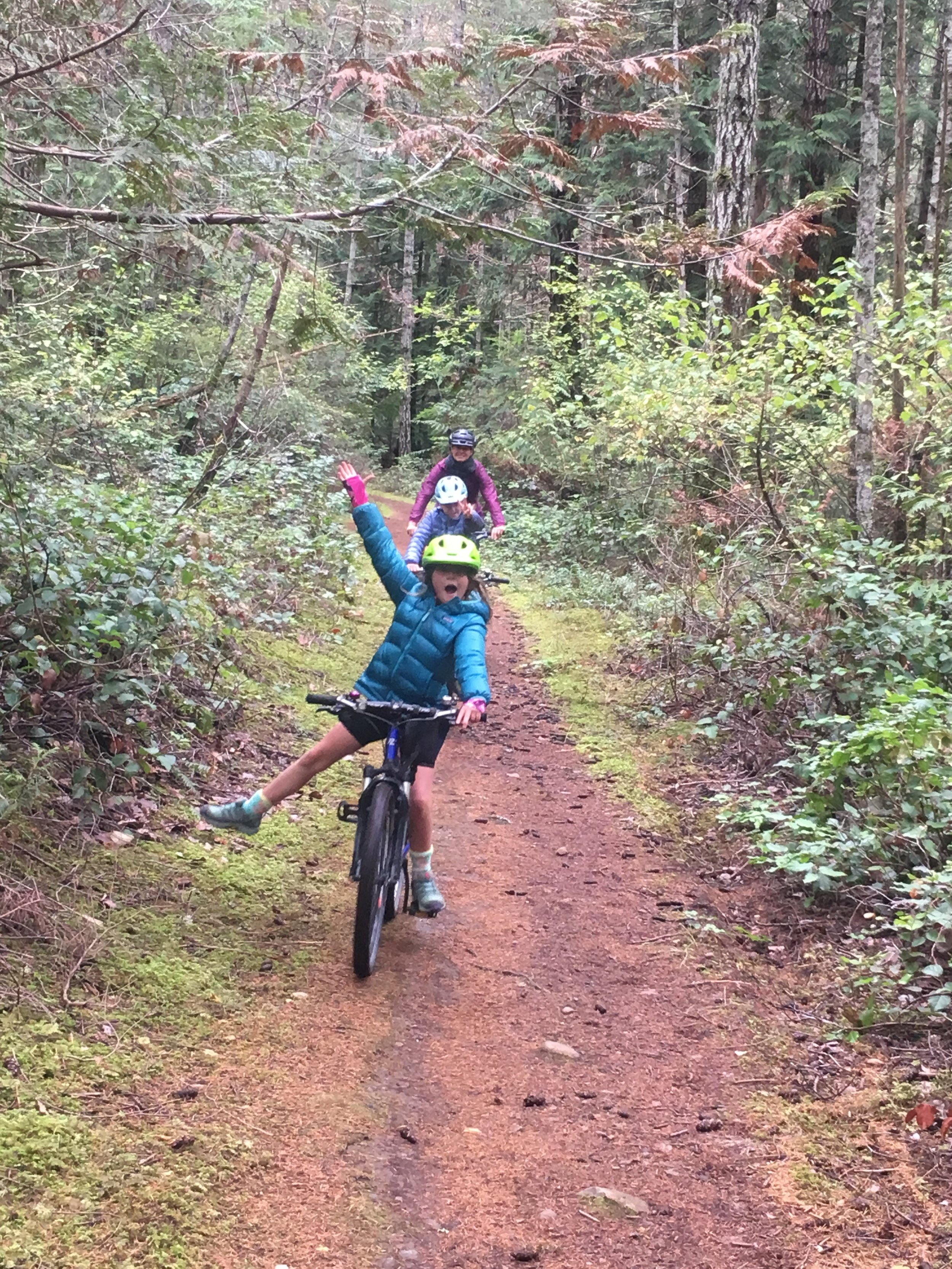 Exploring Hornby Island on our bikes