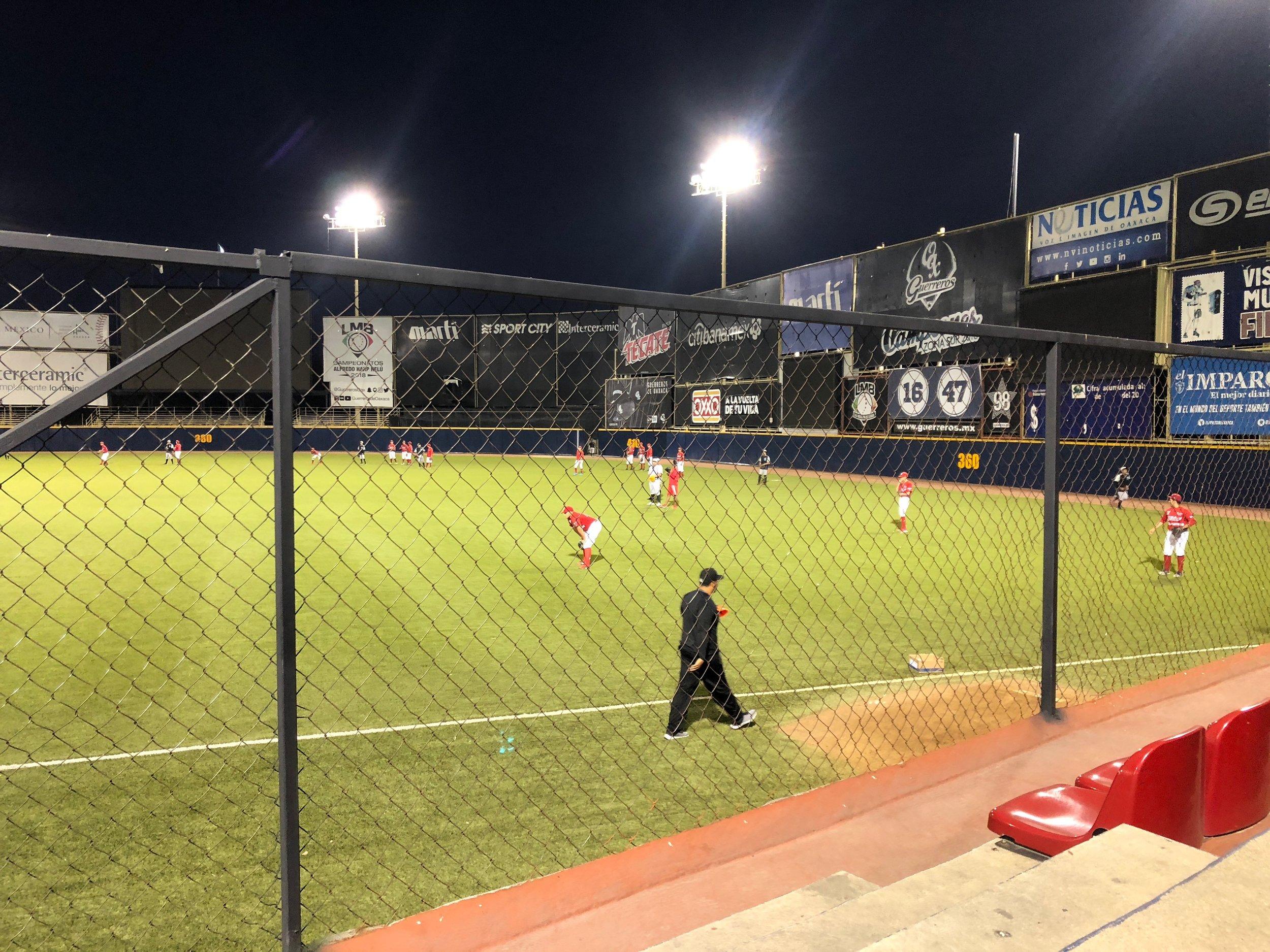 Oaxaca has a professional baseball team that is very popular