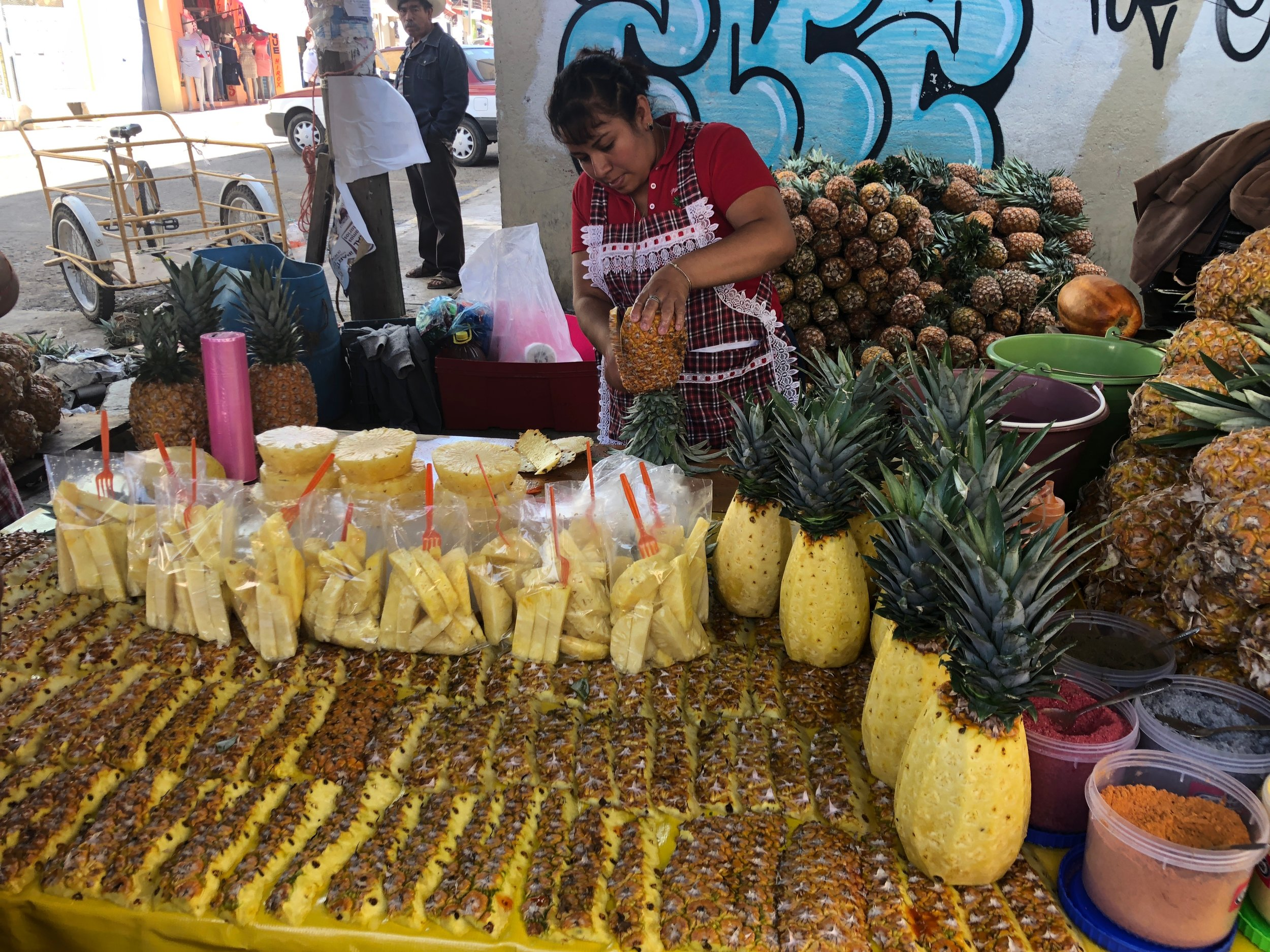 Eating fresh pineapple is one of our favorite things to do!