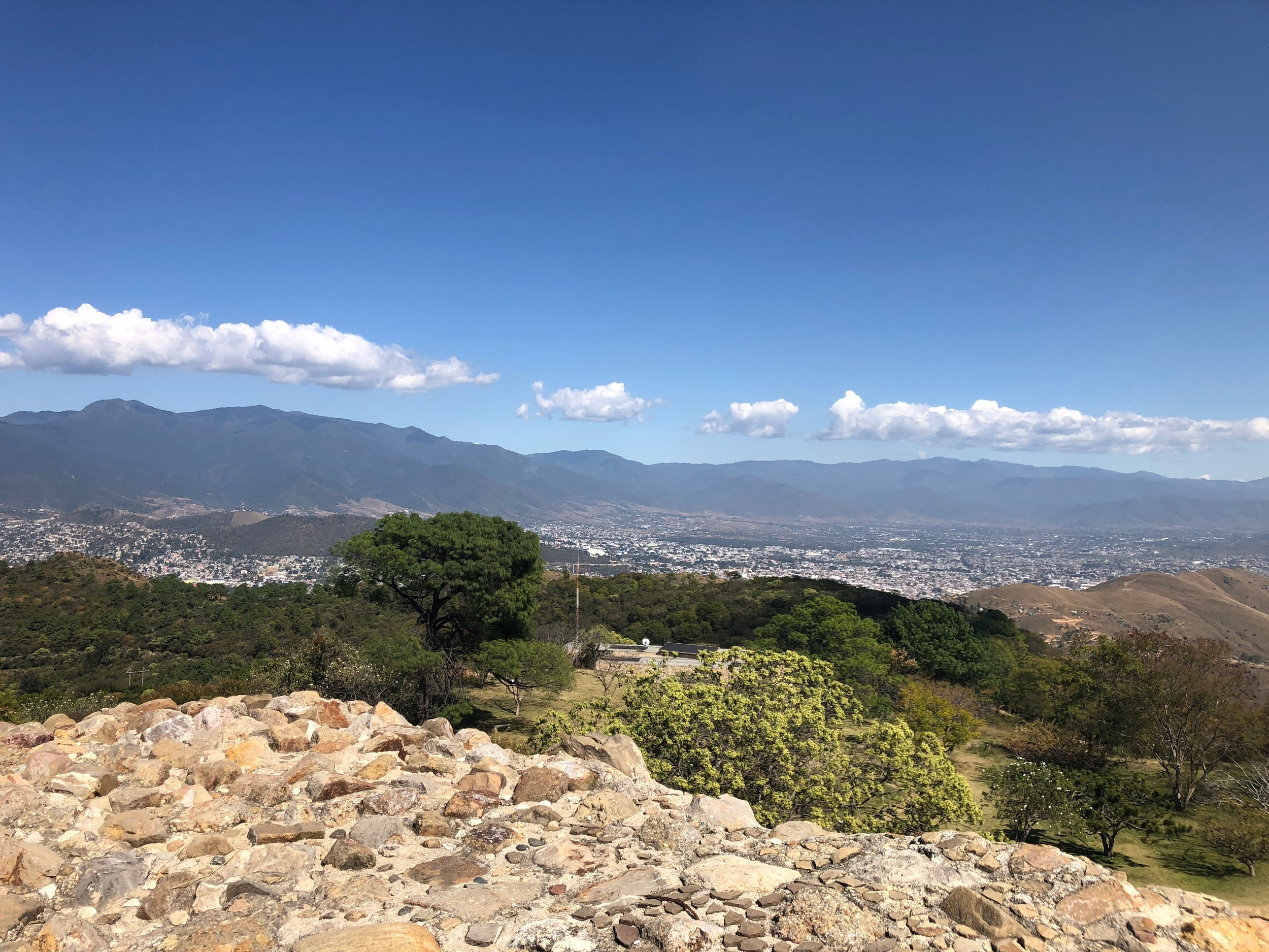 A view of Oaxaca from Monte Alban