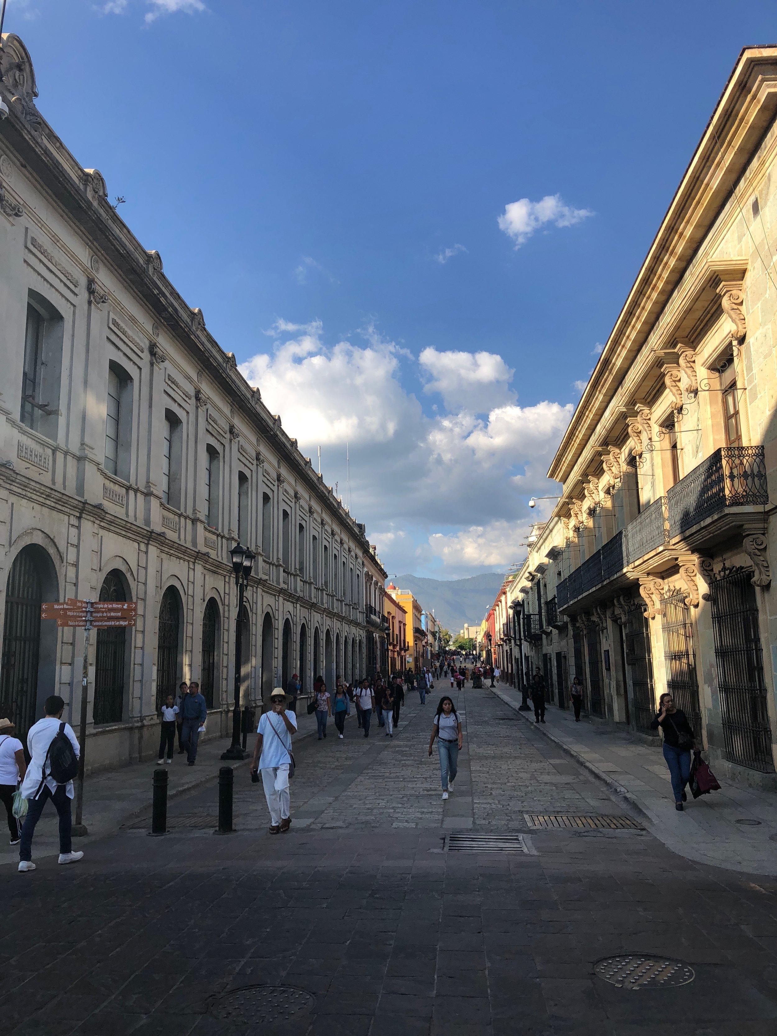 A view of Alcala - the pedestrian street