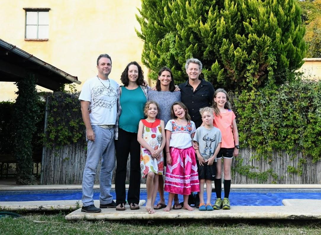 Our US/Oaxaca crew - Elliot, Tasha, me, John, Harlie, Isla, Louis, and Ellie at our house