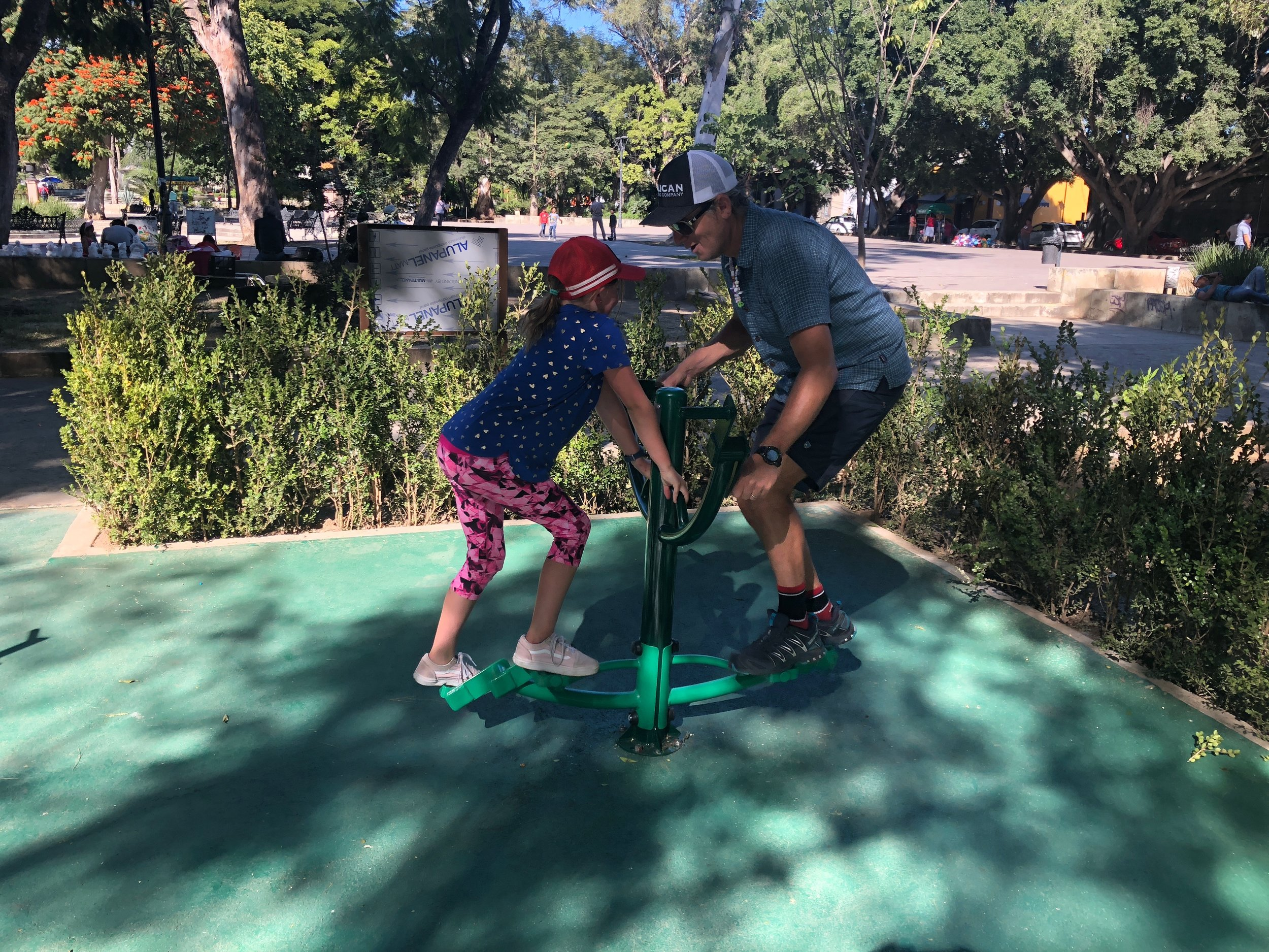 The parks aren't quite the same as in the states - but we have fun anyway!