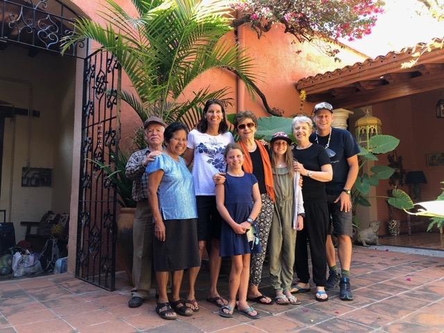 Senor Maurro, Señora Reina, me, Isla, Sylvia, Ellie, Carolyn, and John