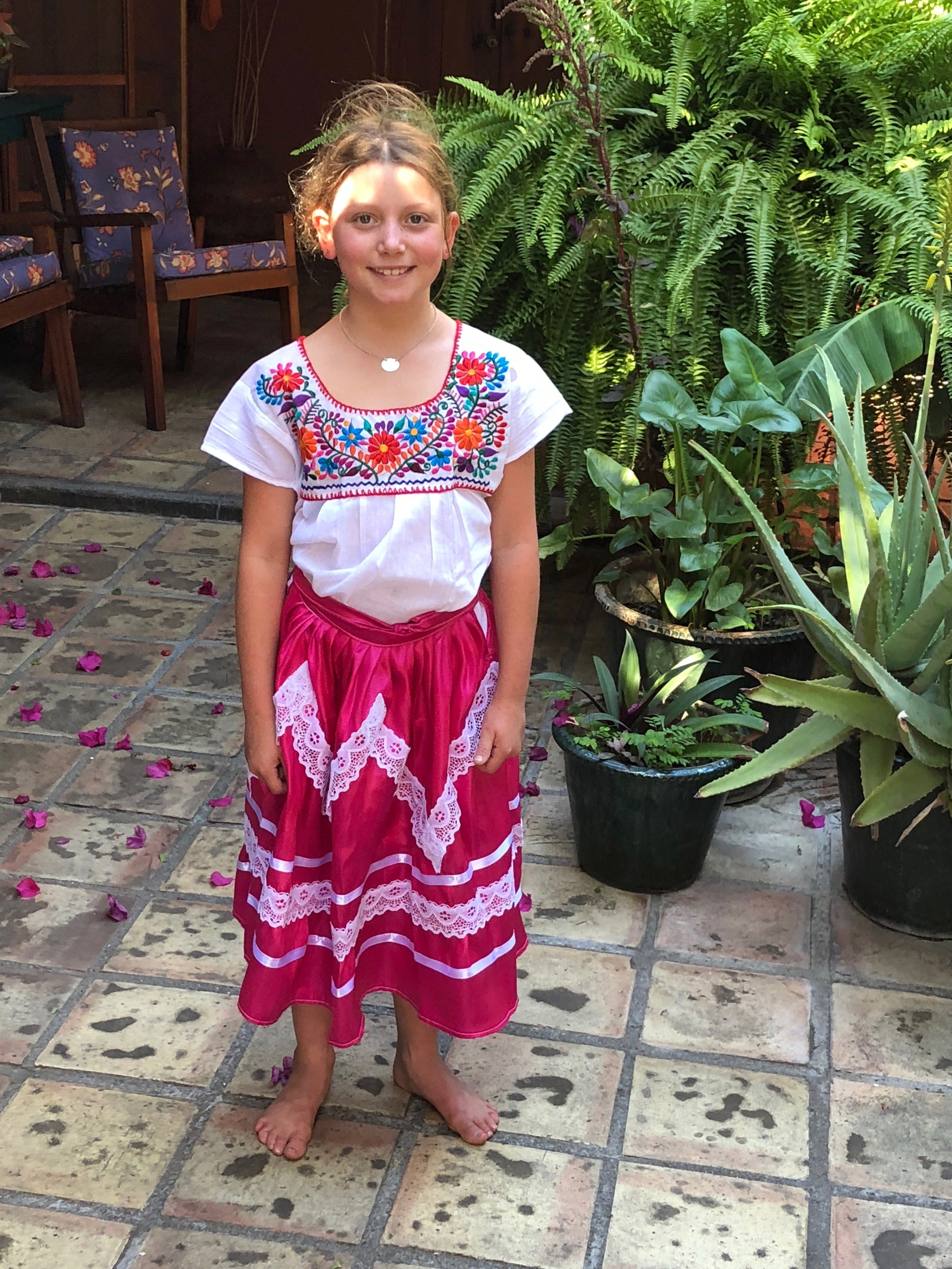 """Isla in her new """"ropa tipica"""""""