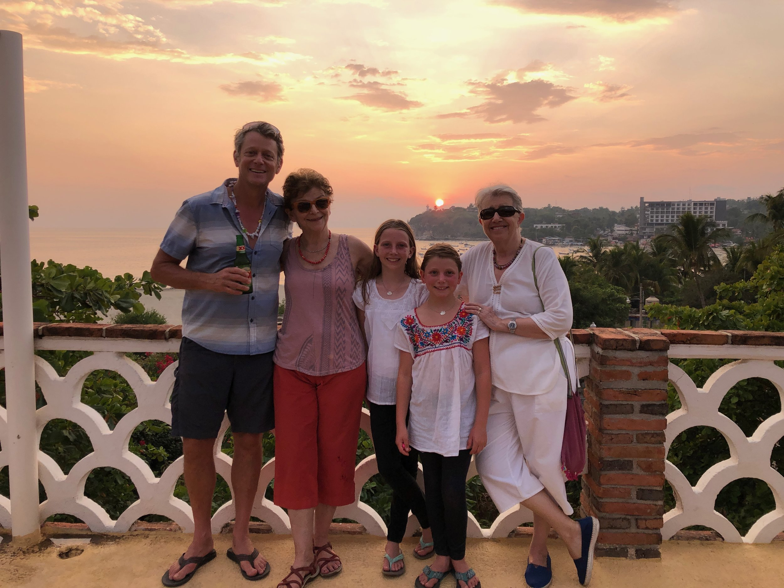 John, Sylvia, Ellie, Isla, and Carolyn