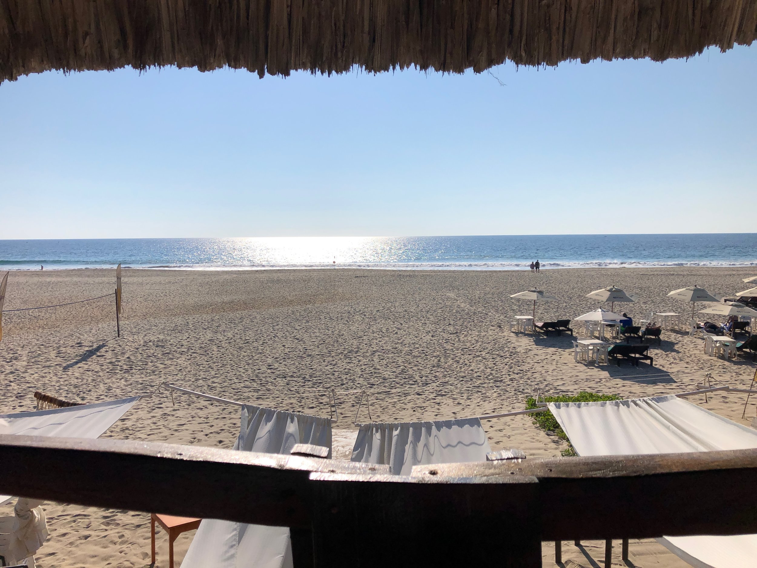 The view from one of our favorite restaurants on the beach.