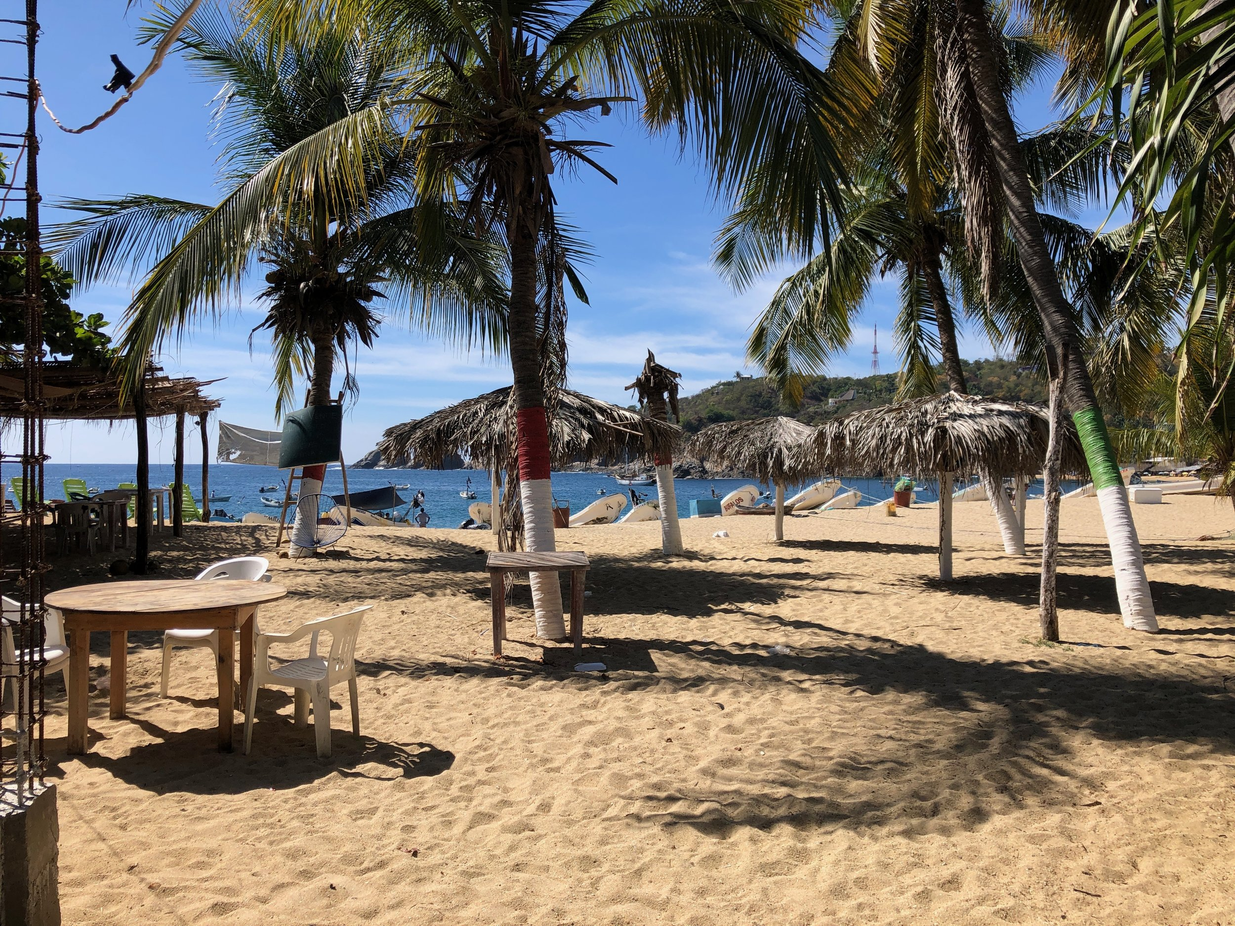 The beach in Puerto Angel