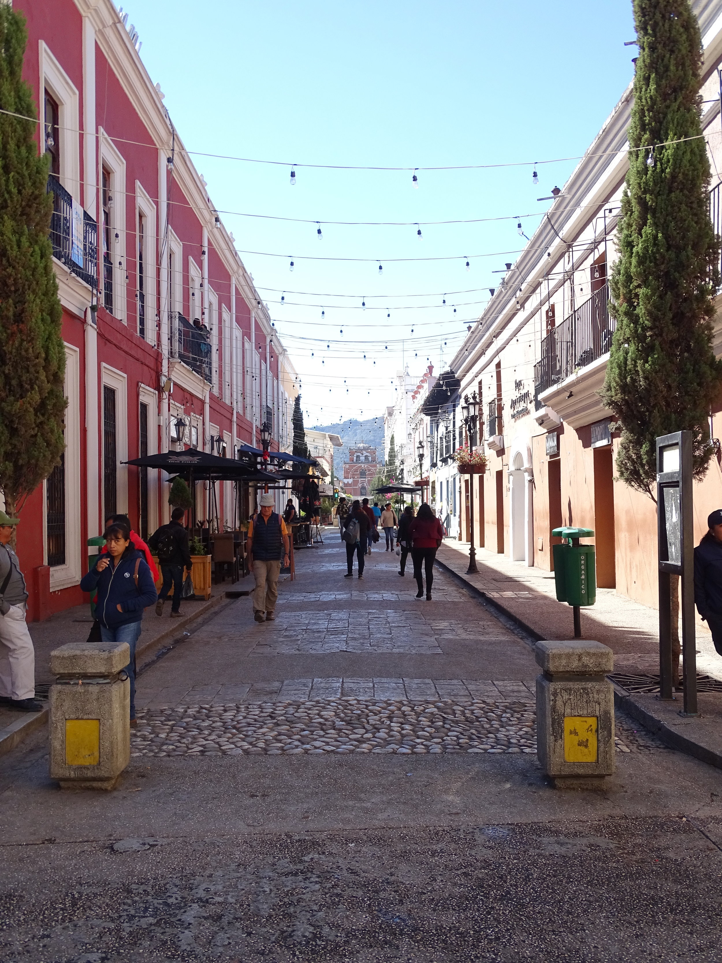 One of the pedestrian streets in San Cristobal