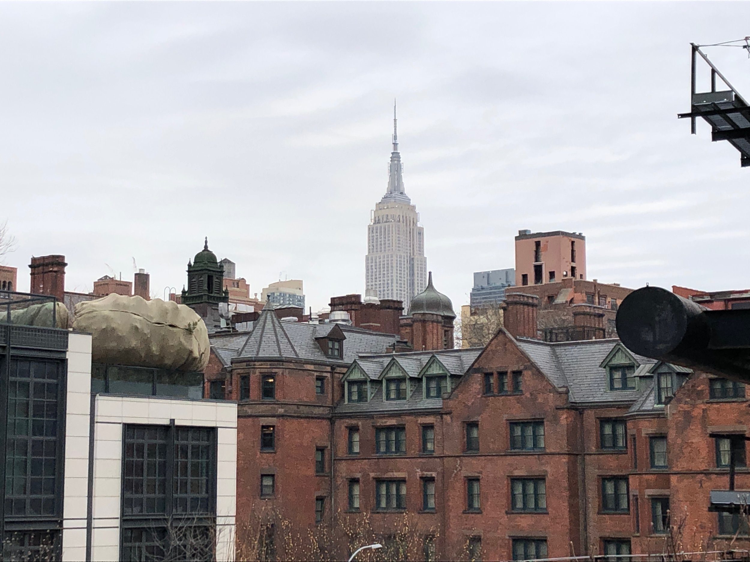 A view of the Empire State Building from the Highline