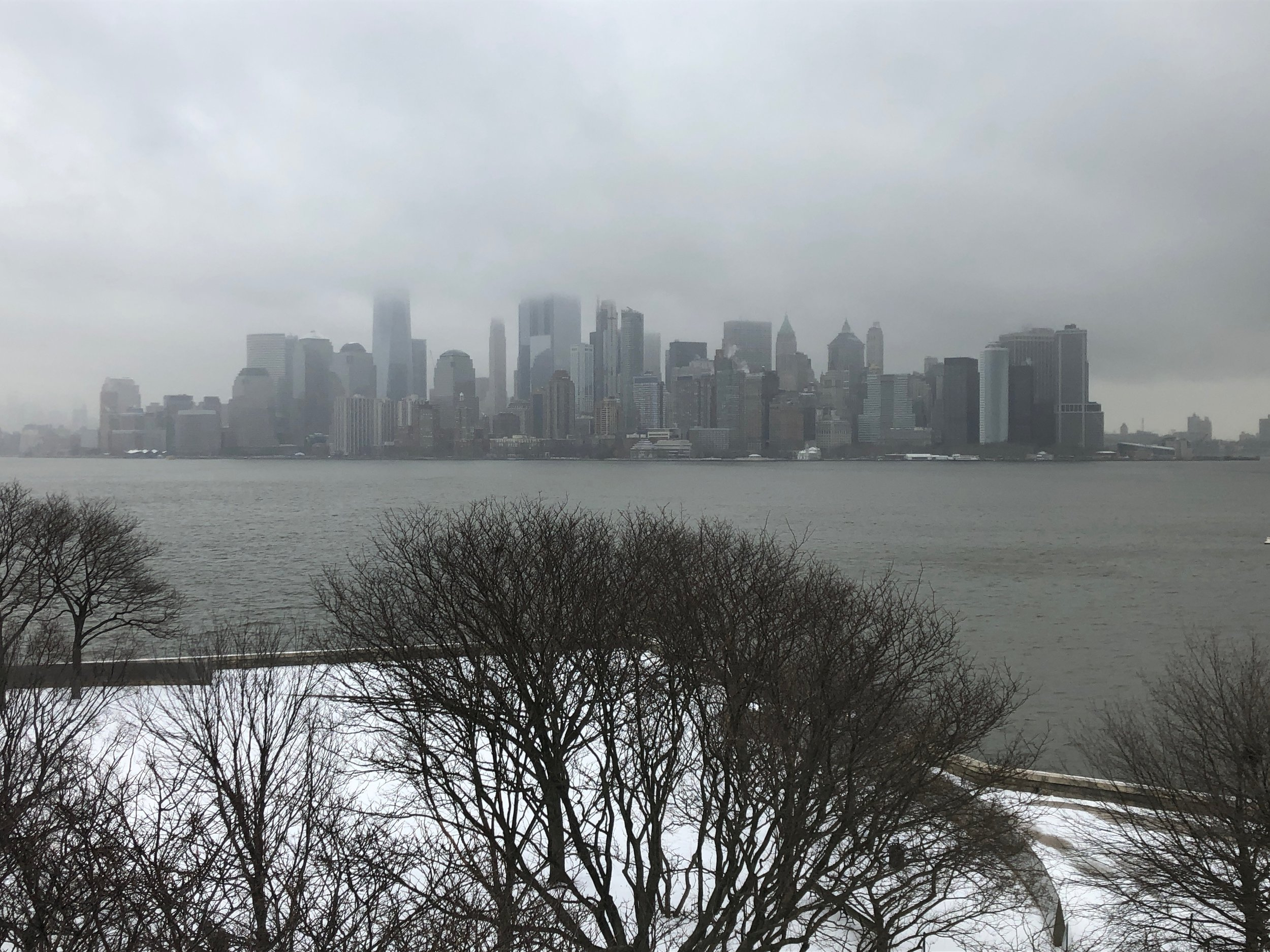 A view of NYC from Ellis Island