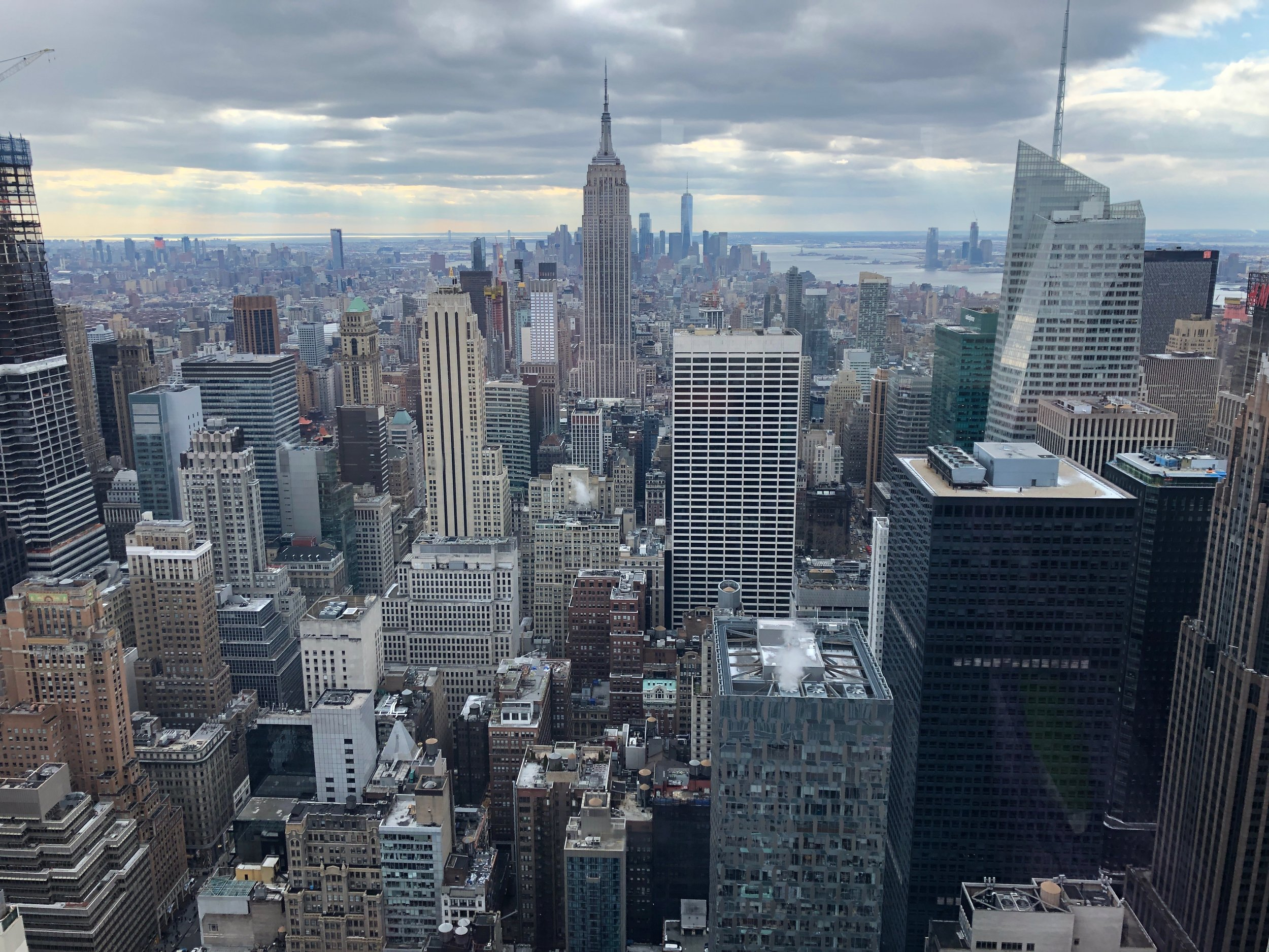 Just one of the amazing views from the Top of the Rock
