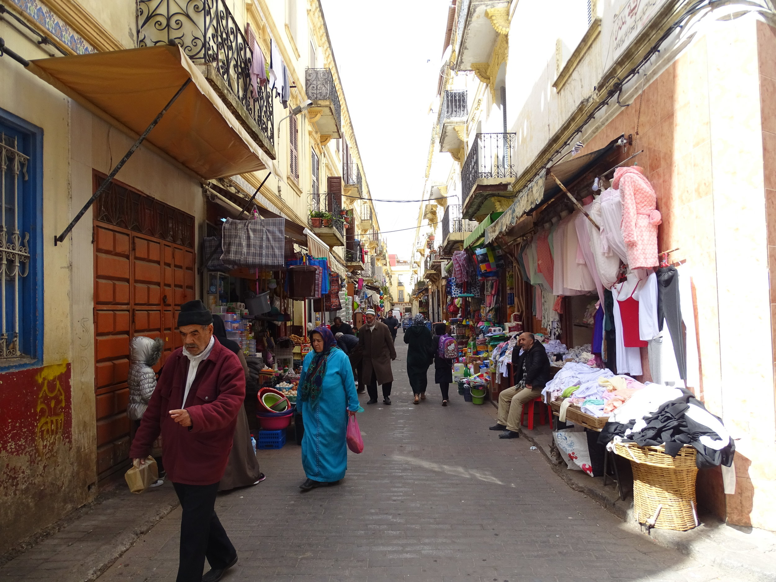 One of many markets in the medina