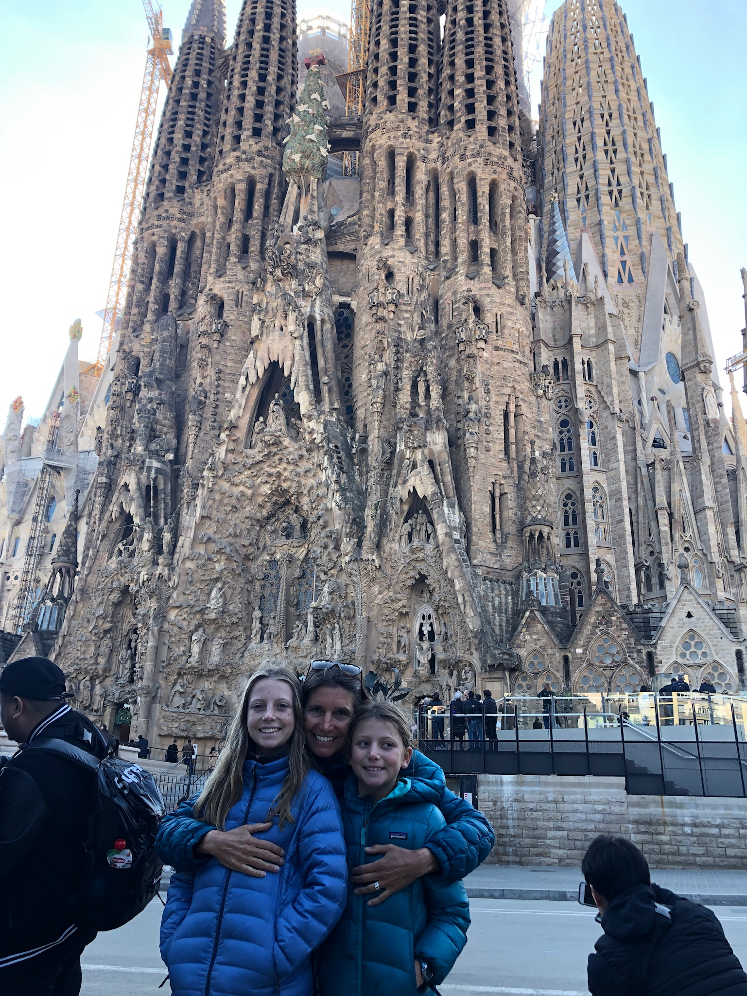 My sagrada familia in front of the Sagrada Familia