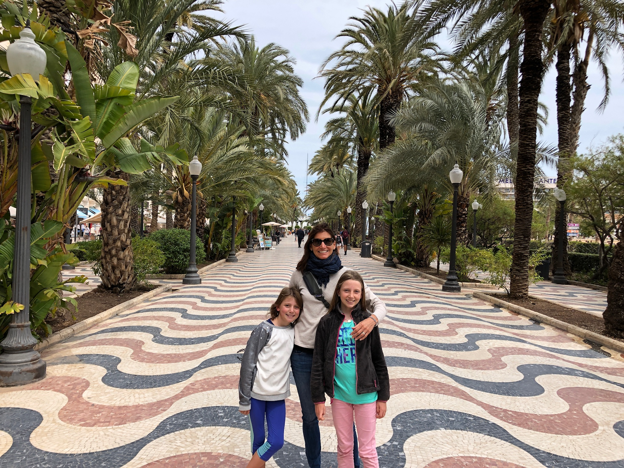 My ladies on the waterfront in Alicante.