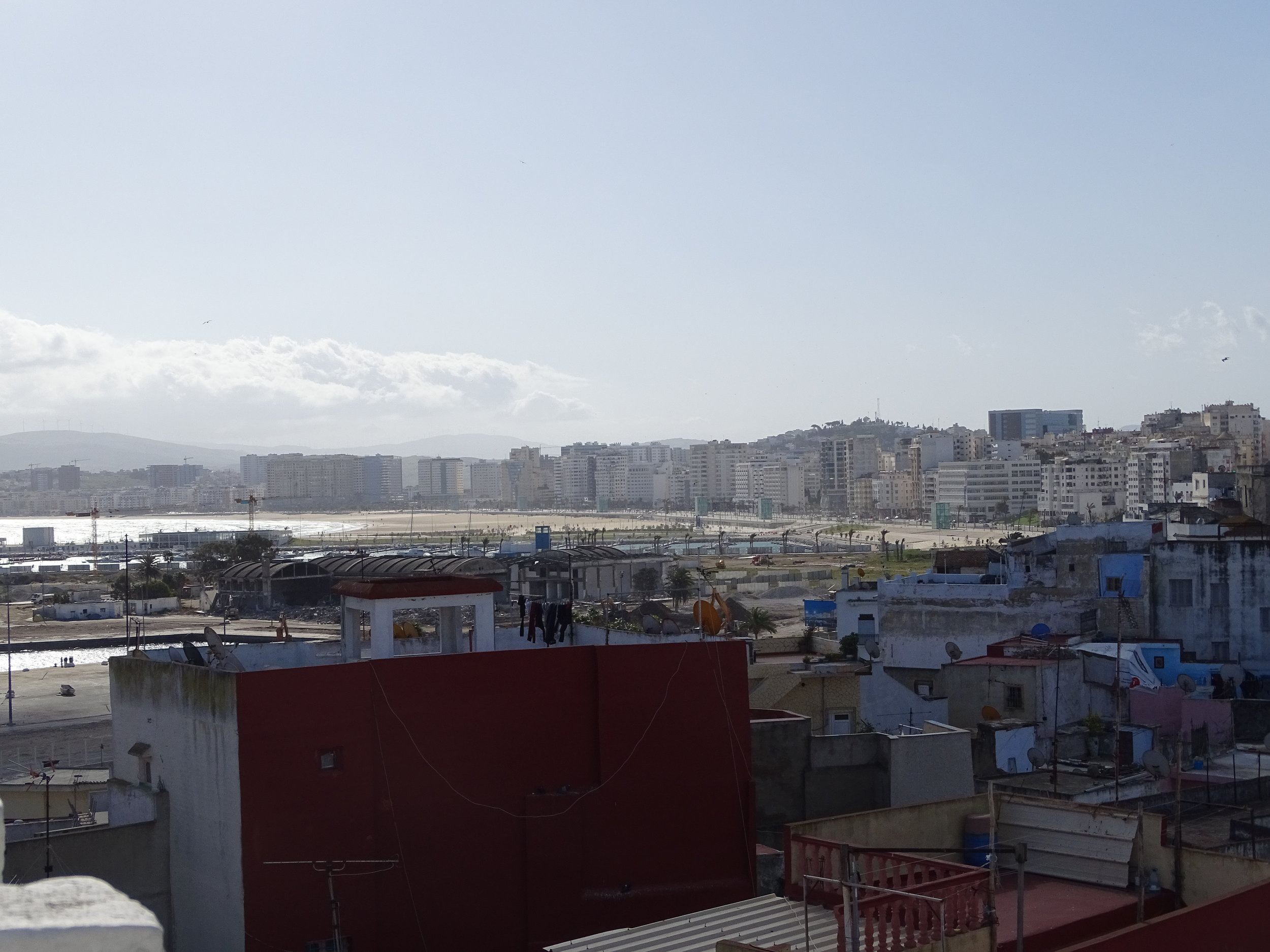 "A view of the ""new city"" of tangier in the distance"