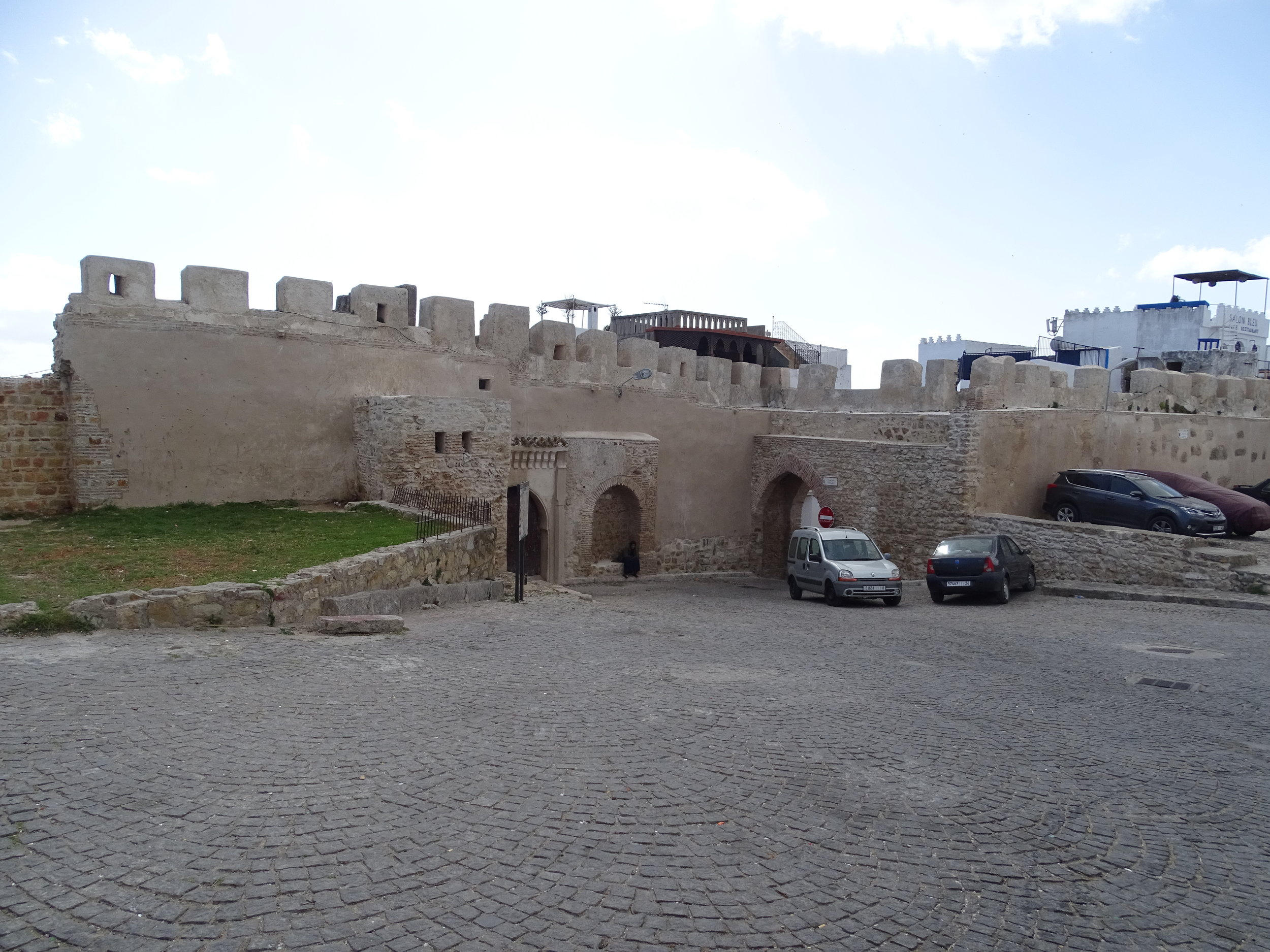One of the entrances to the medina and a a view of the wall that surrounds it
