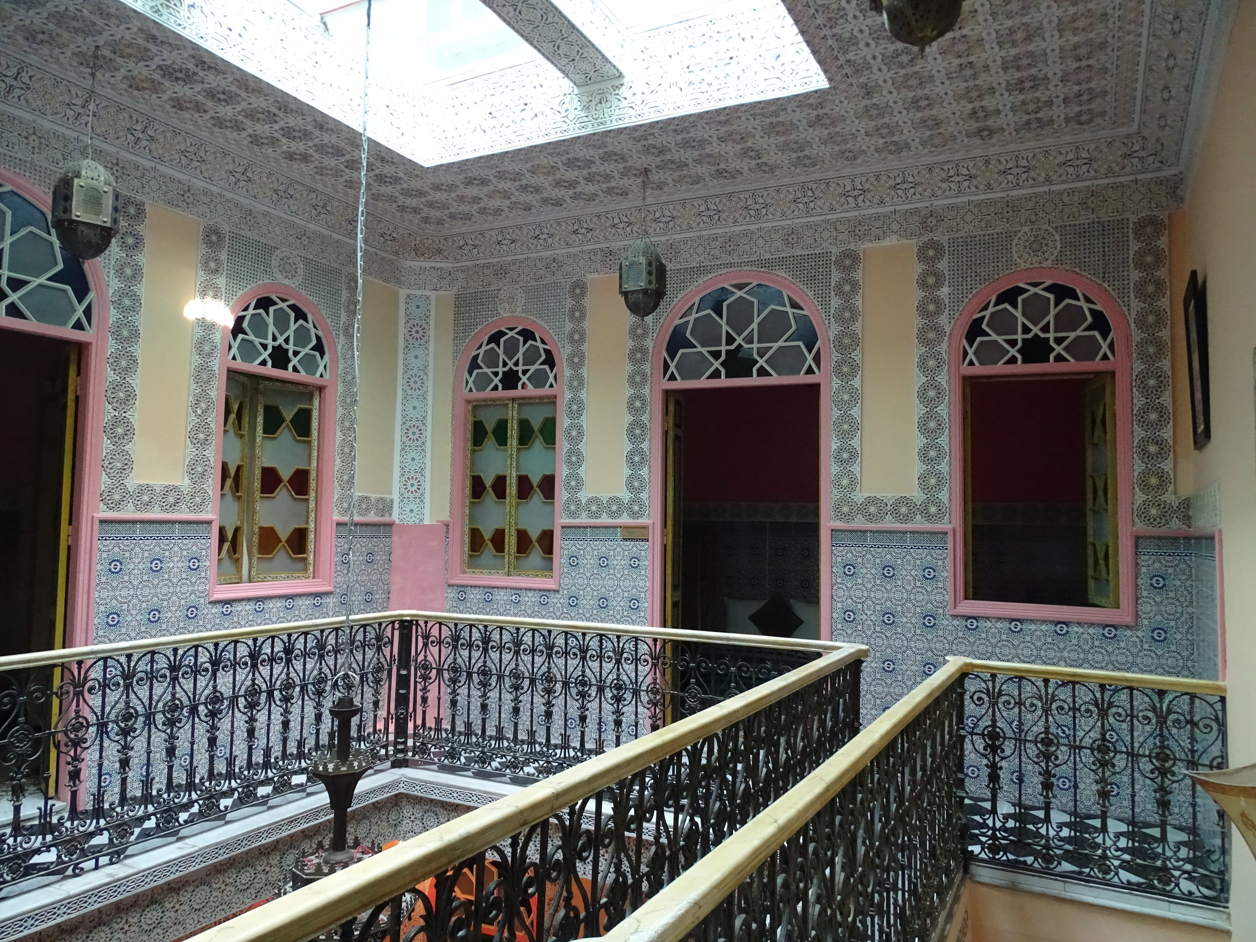 Inside our riad in Tangier