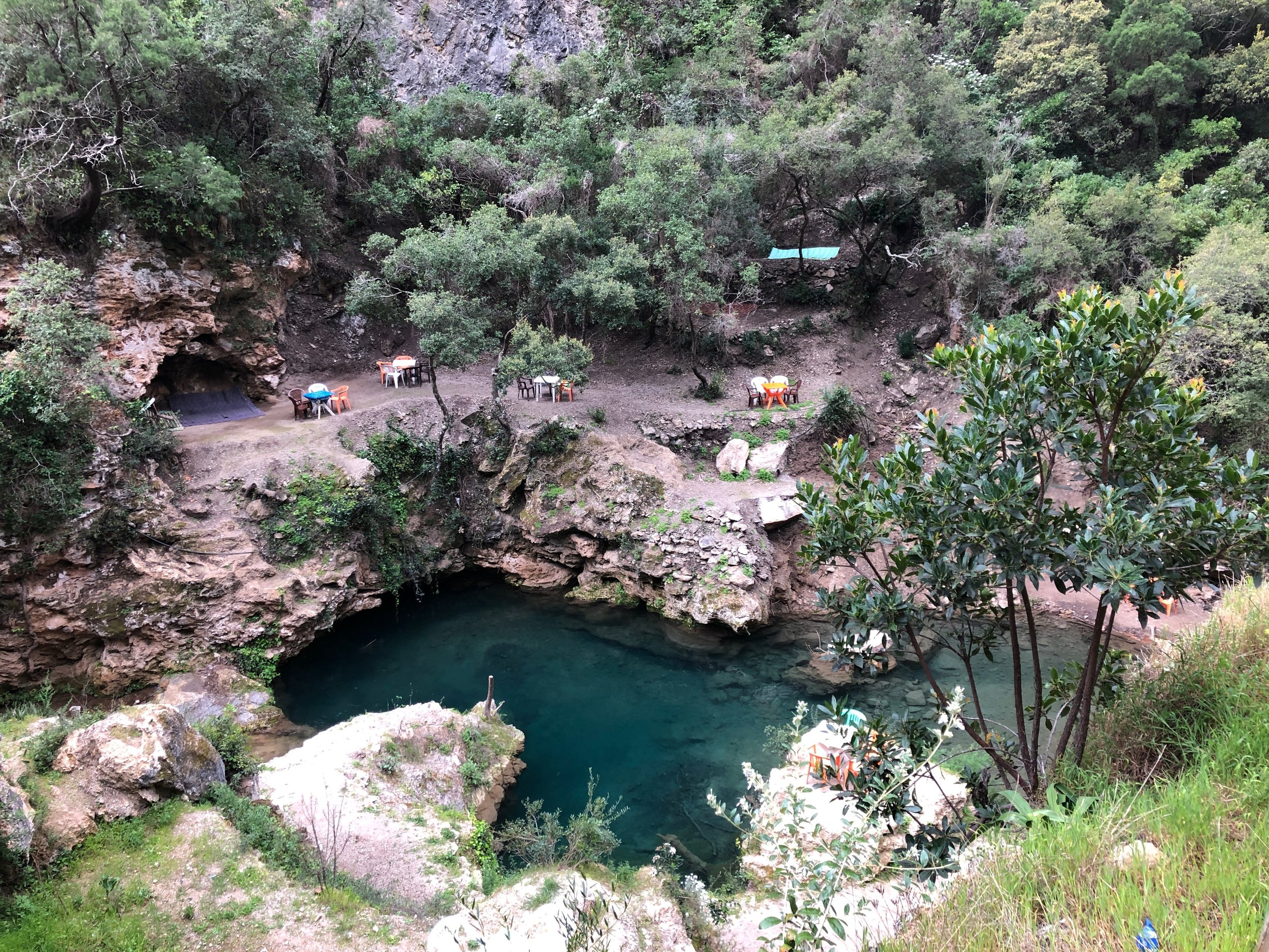 There were several swimming holes along the way - had the weather been better it would have been fun to take a dip!