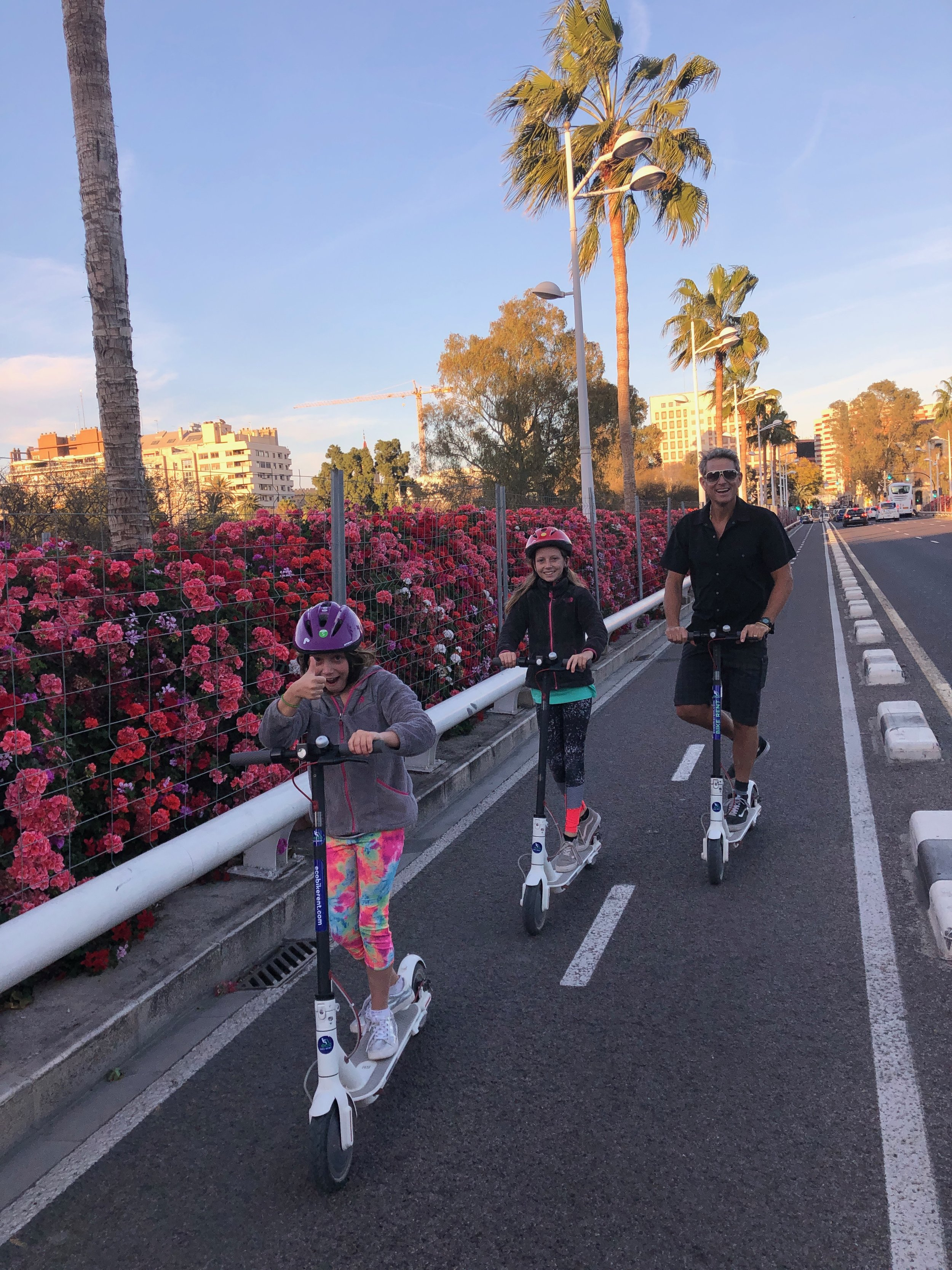 We loved the scooters - they were so much fun!