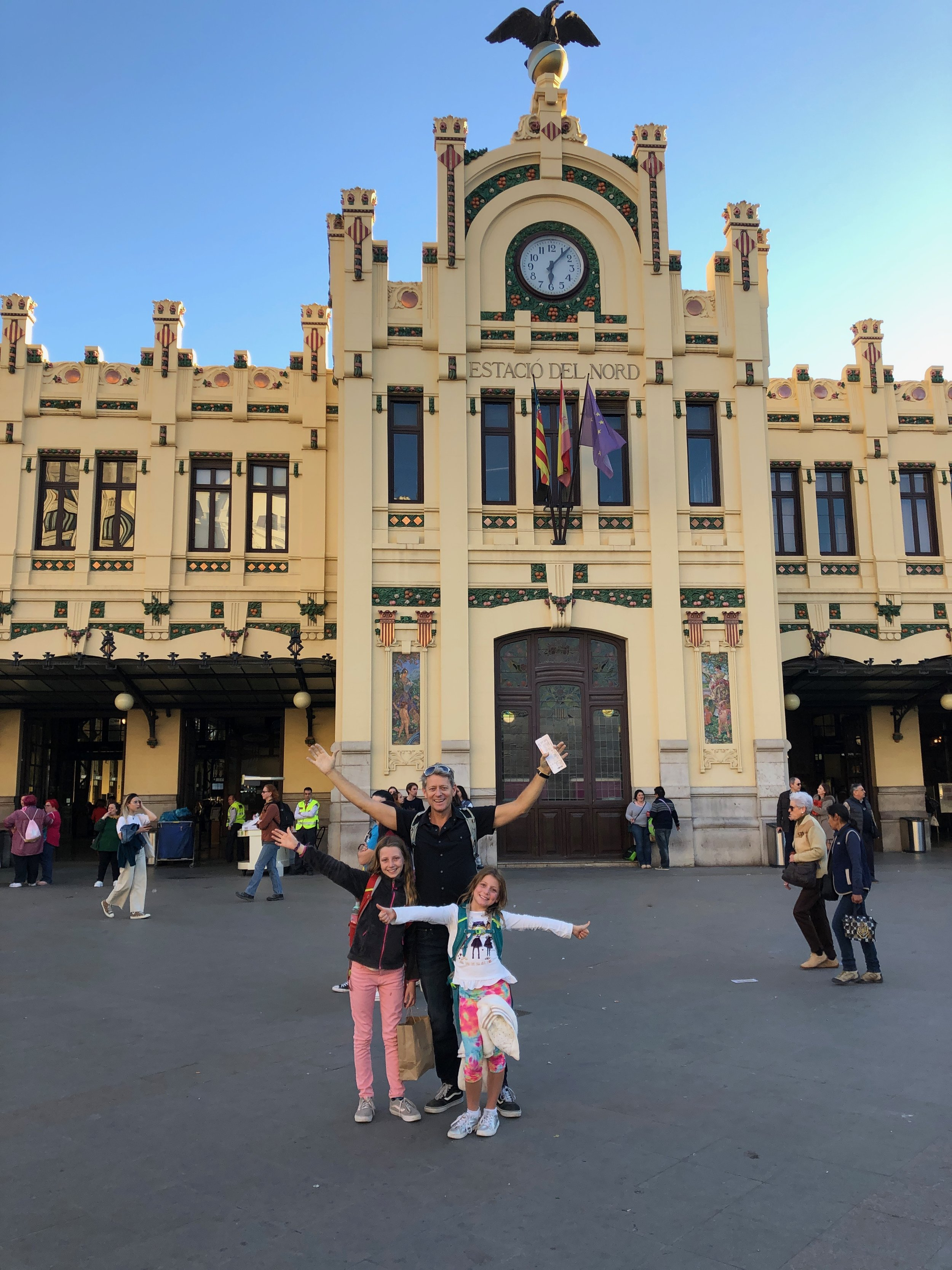 Getting ready to leave Valencia. We're in front of the train station