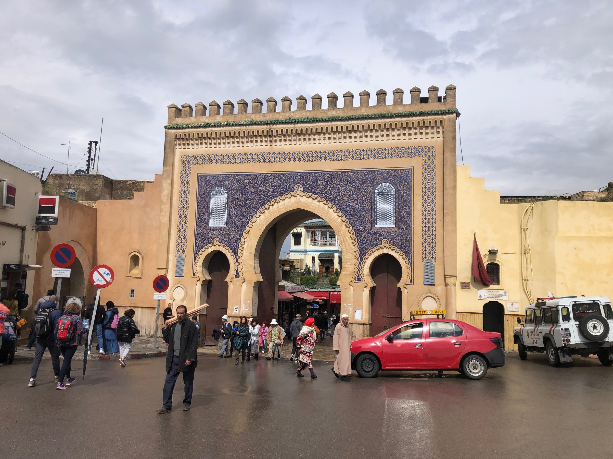 "The famous ""Blue Gate"" in Fez"