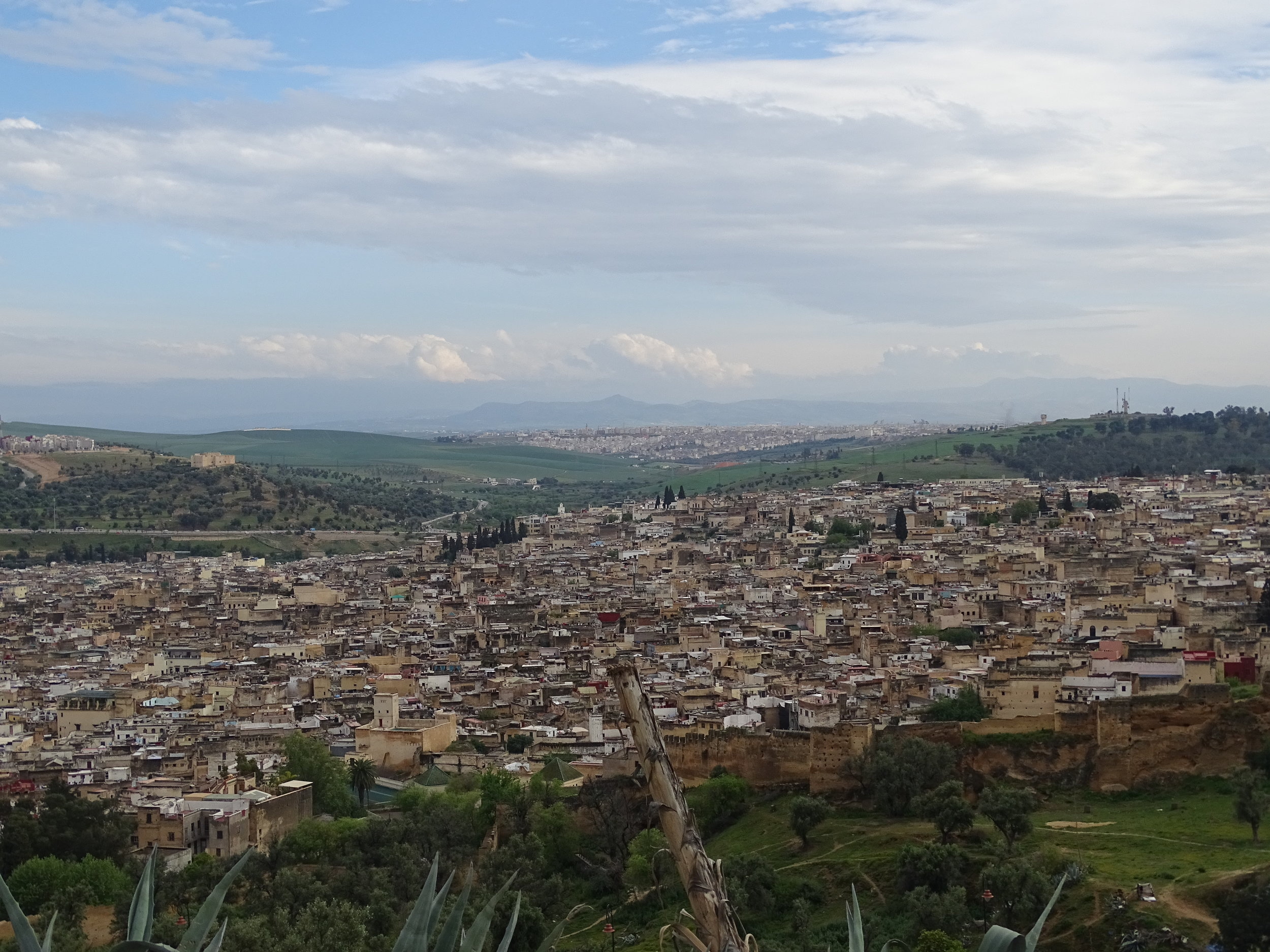 "The old city of Fez and the ""new"" city in the background"
