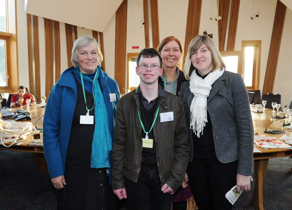 Margaret Colquhoun and David Arthur at the Scottish Parliament Camphill Reception