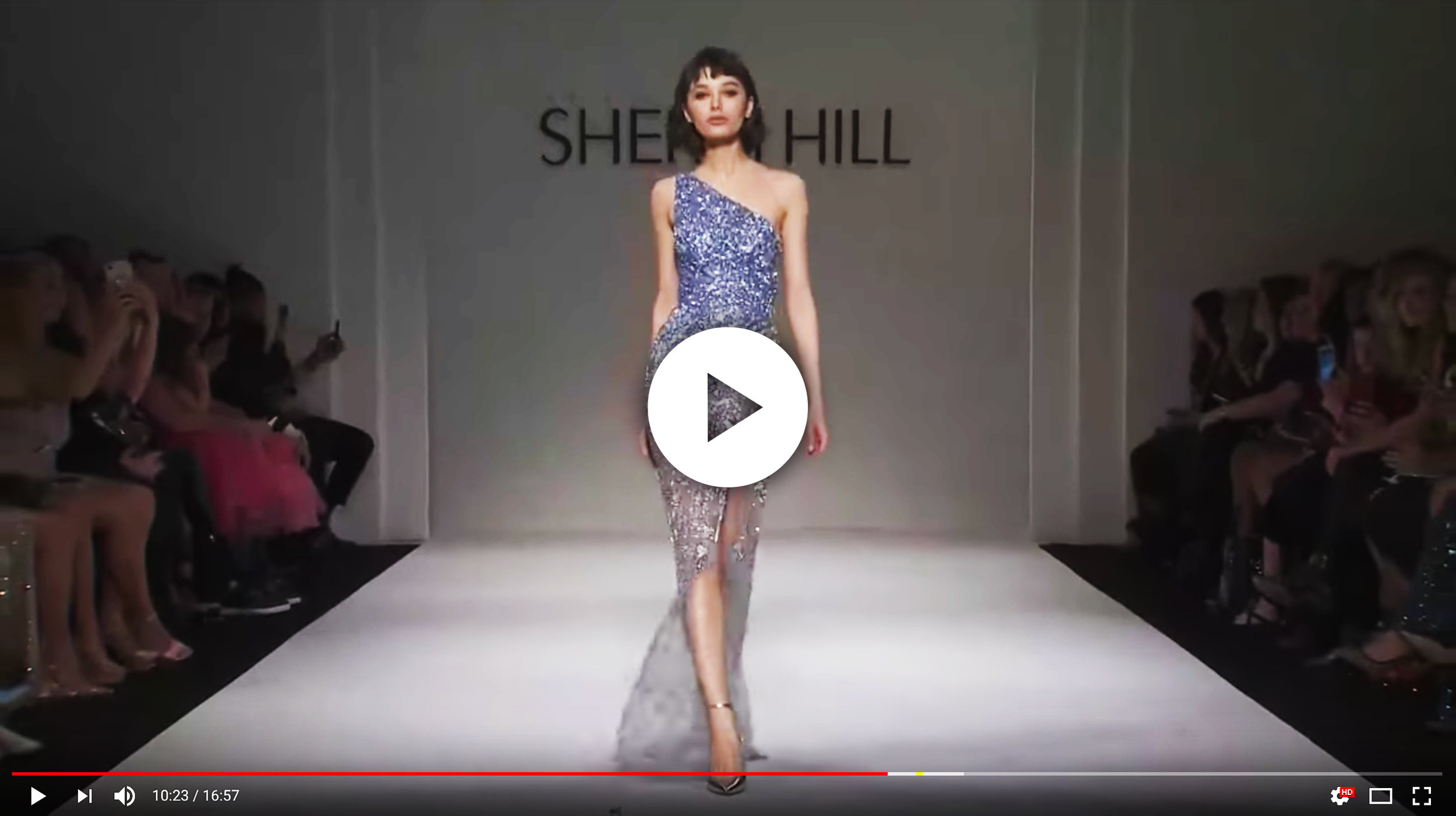 American eveningwear designer Sherri Hill dazzled with her Fall 2018 collection at Gotham Hall during New York Fashion Week. The runway featured two former Miss Universe winners: Pia Wurtzbach and Demi-Leigh Nel-Peters.
