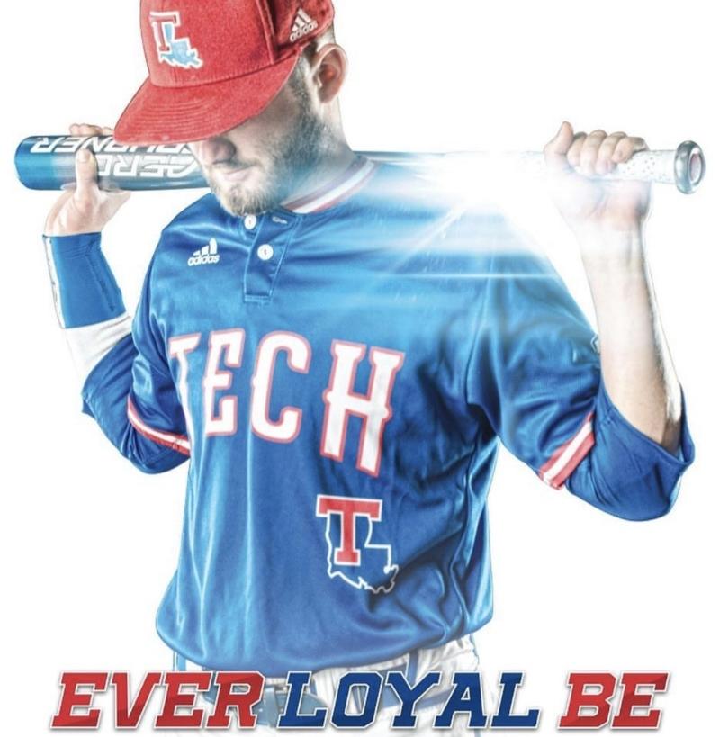 Sean Ullrich on the 2017 Louisiana Tech Baseball Poster