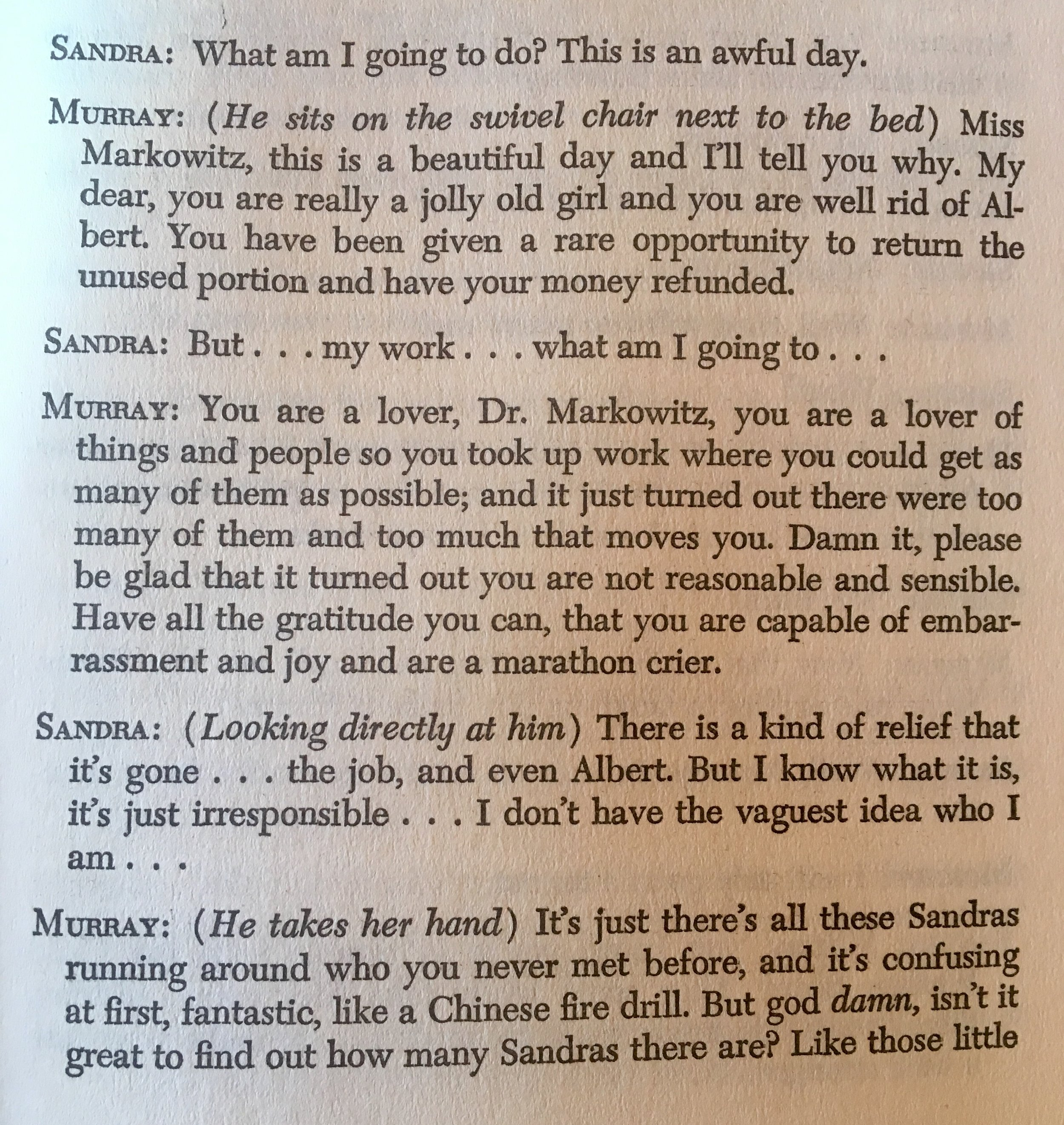 Excerpt from Herb Gardner's play–A Thousand Clowns