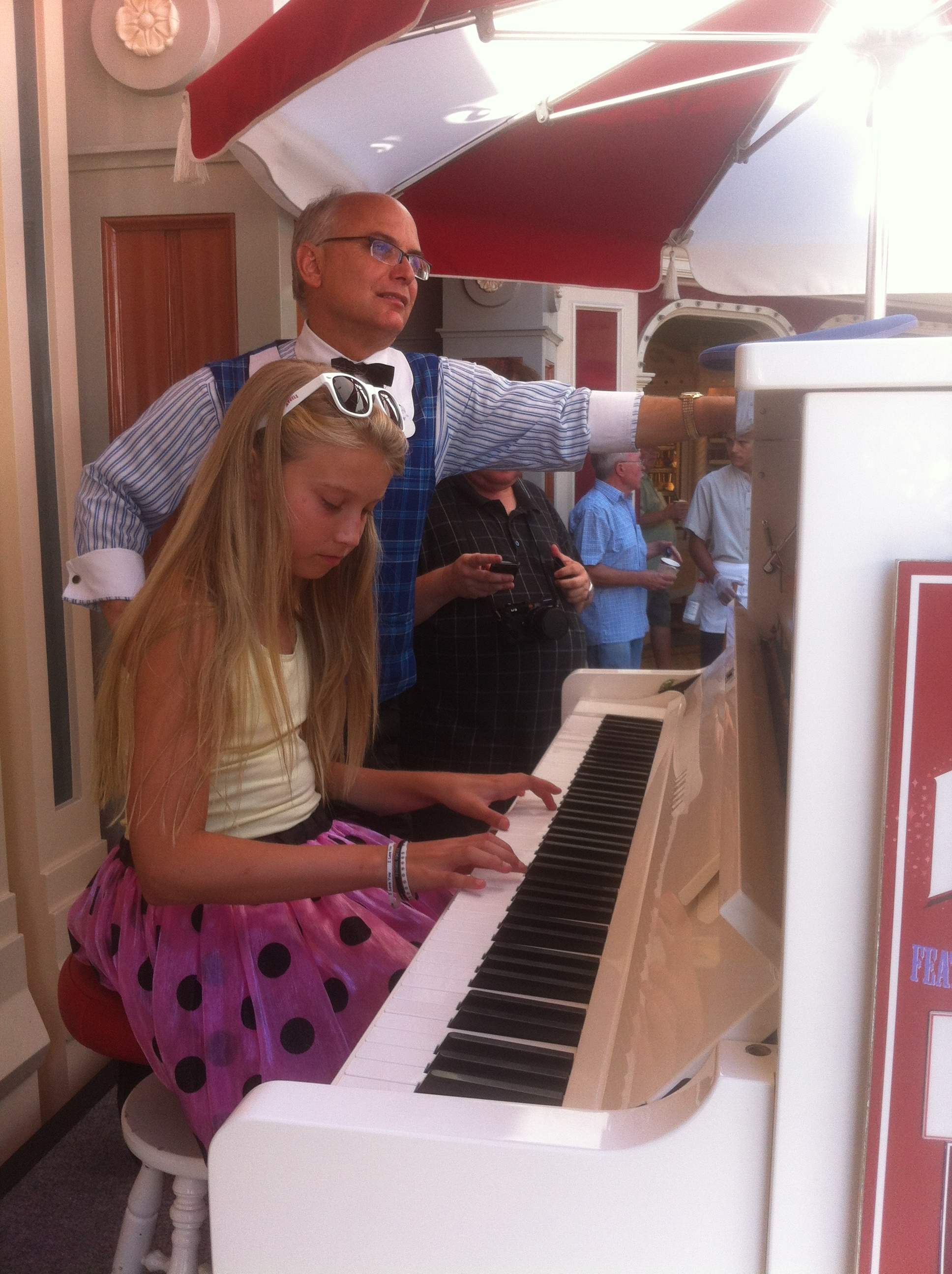 Piano Student at Disneyland