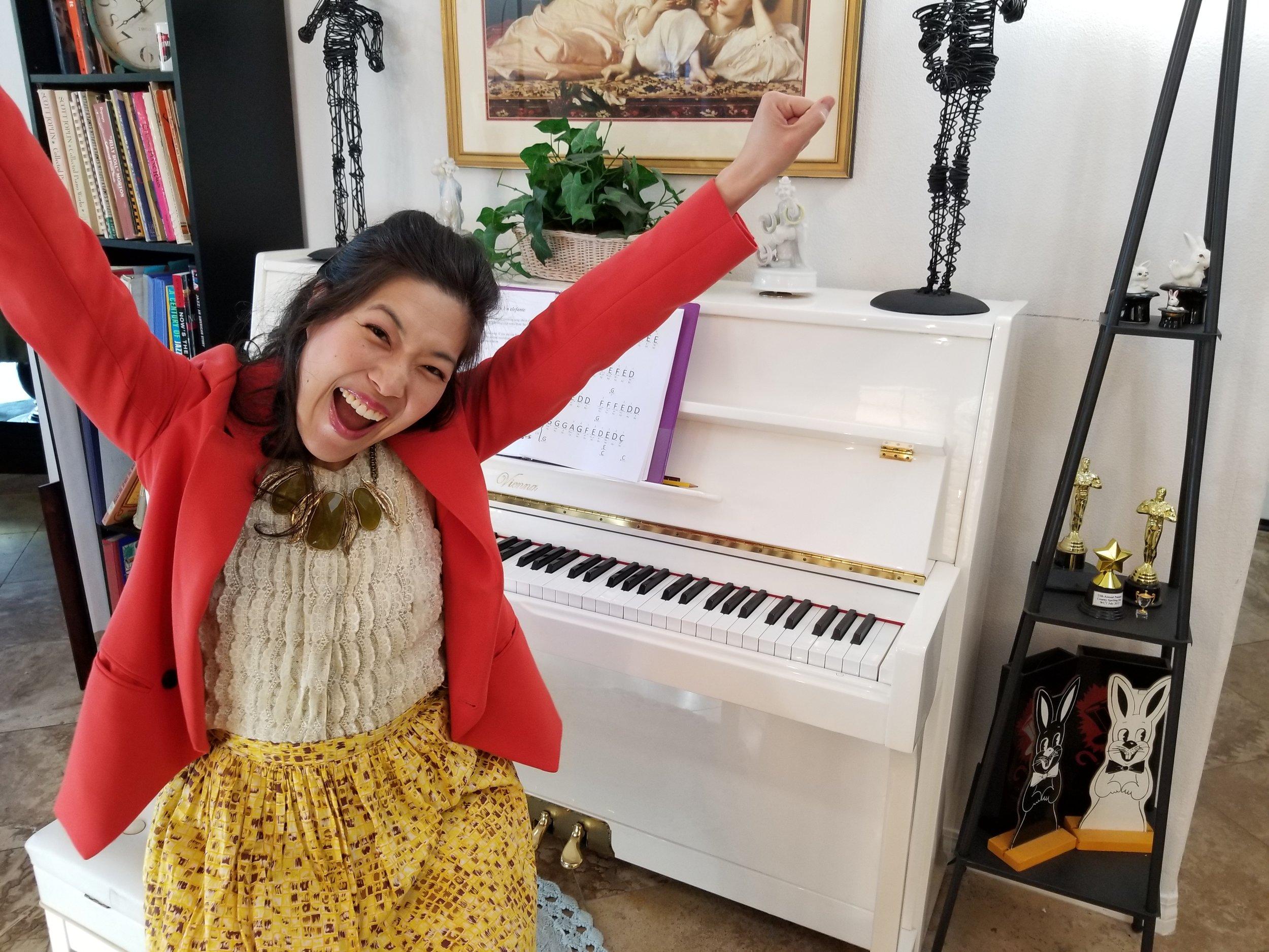 Prestissima! at the piano