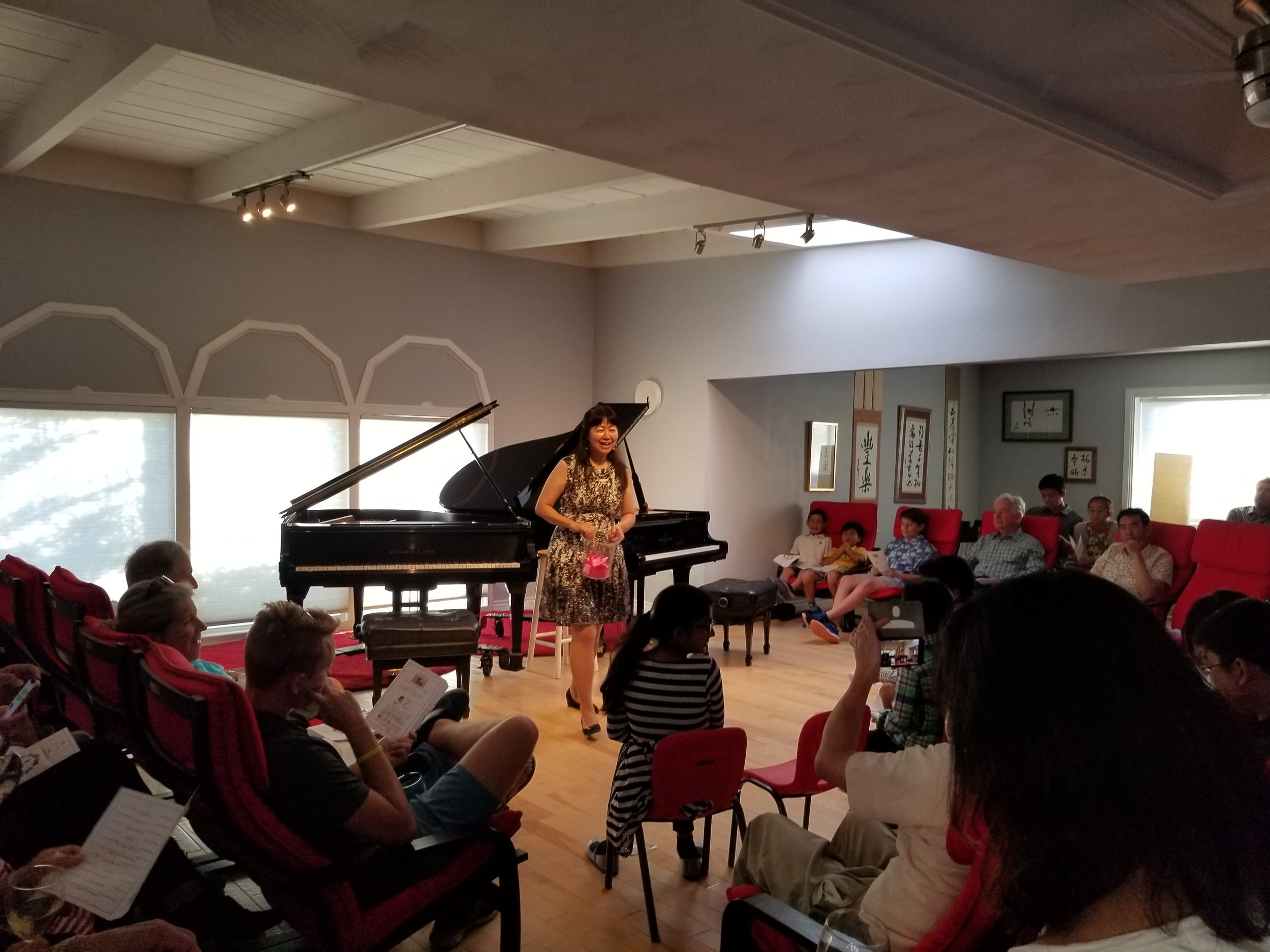 Piano Recital at Hoson House, Tustin