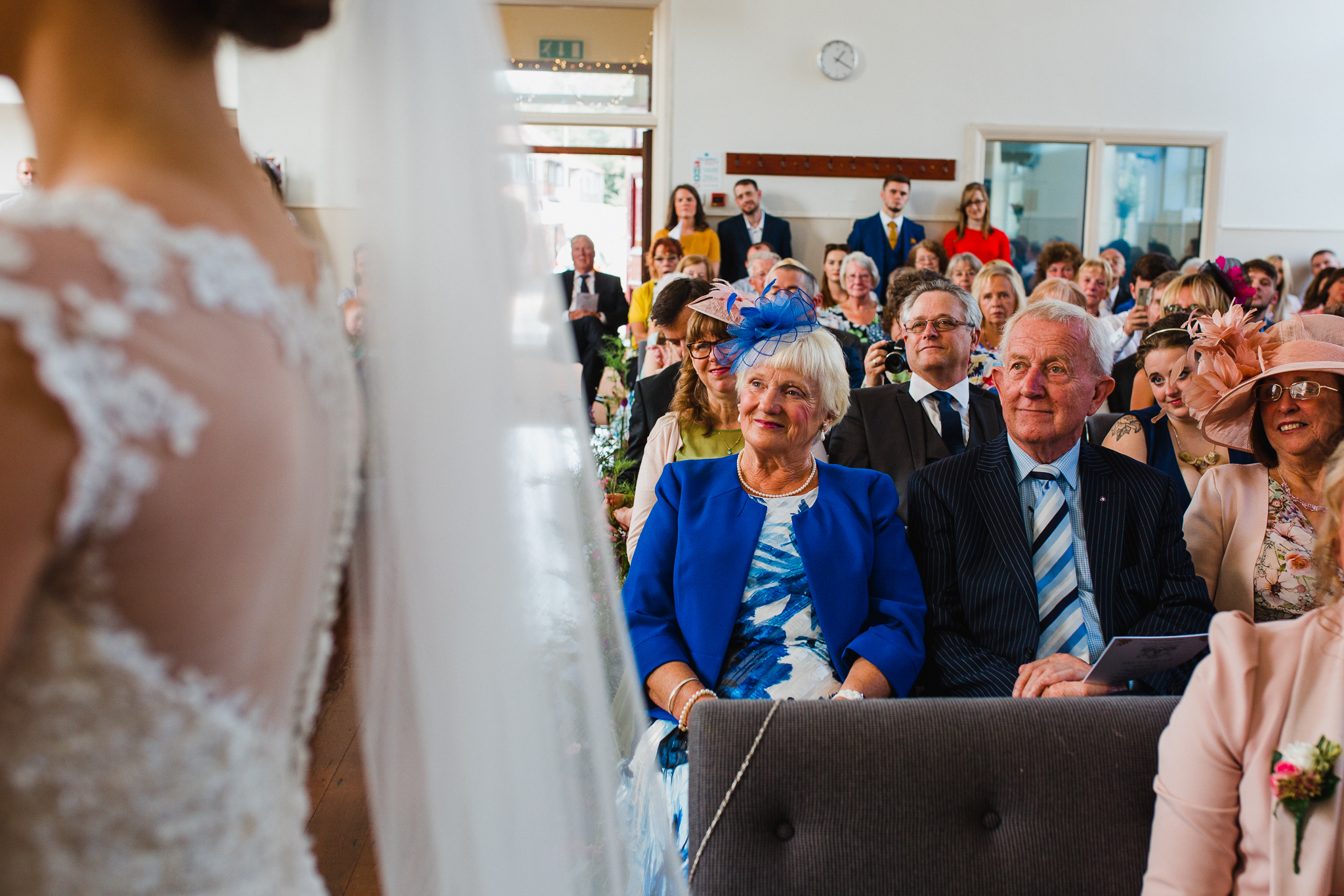 Jess and Ben - Liverpool wedding - grandparents in church