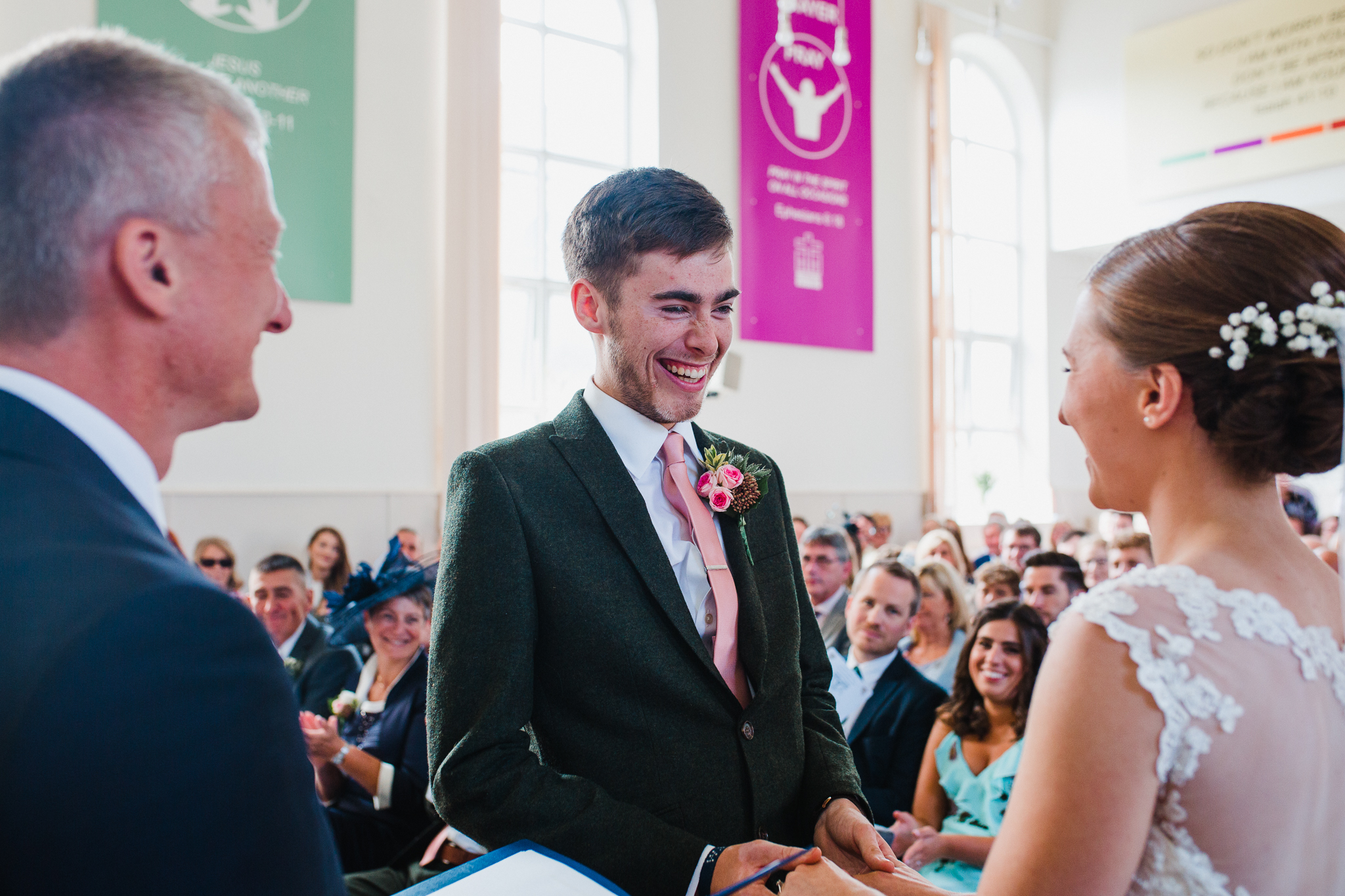 Jess and Ben - Liverpool wedding - Ben saying his vows