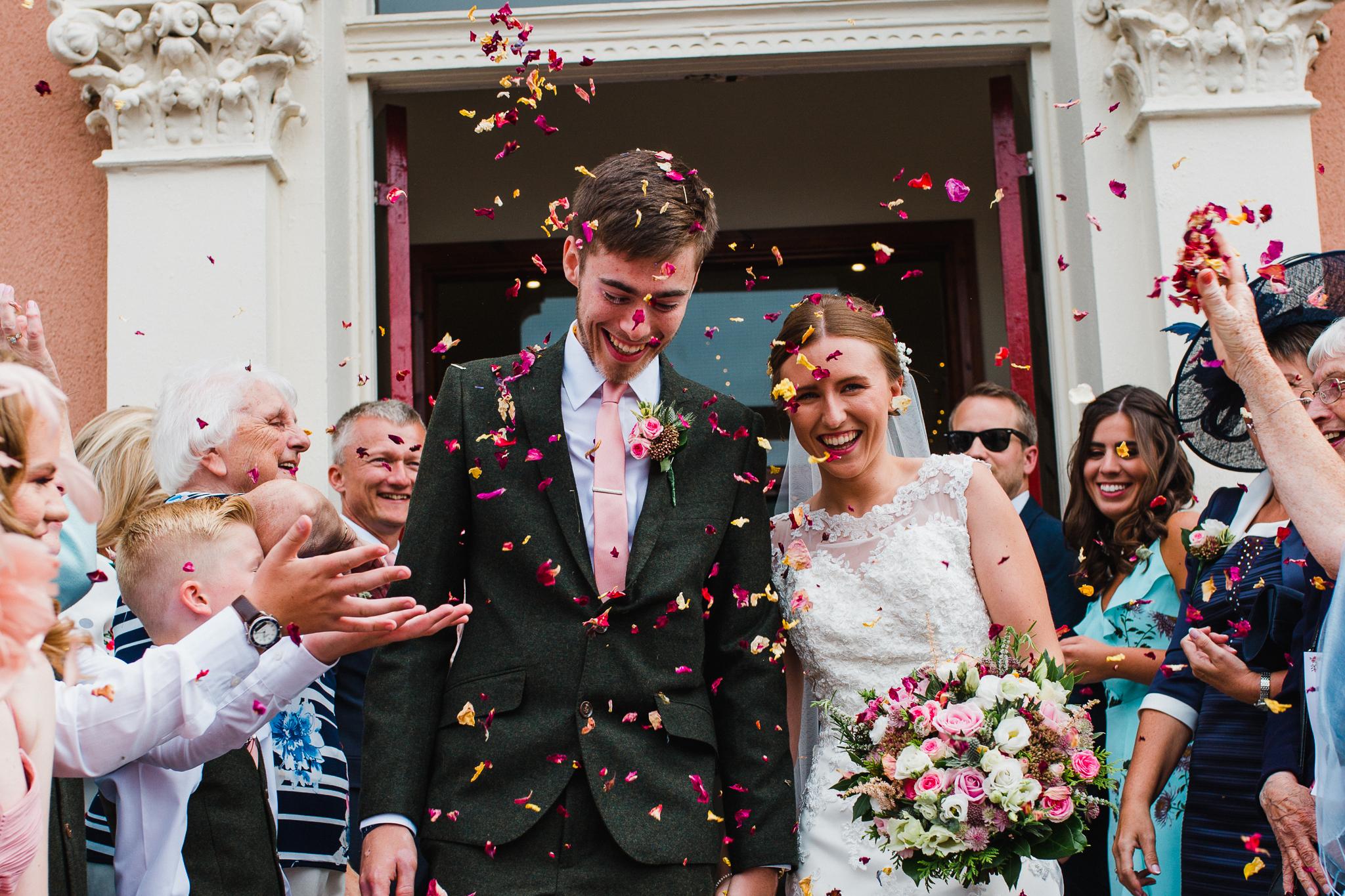 Jess and Ben - Liverpool wedding - confetti
