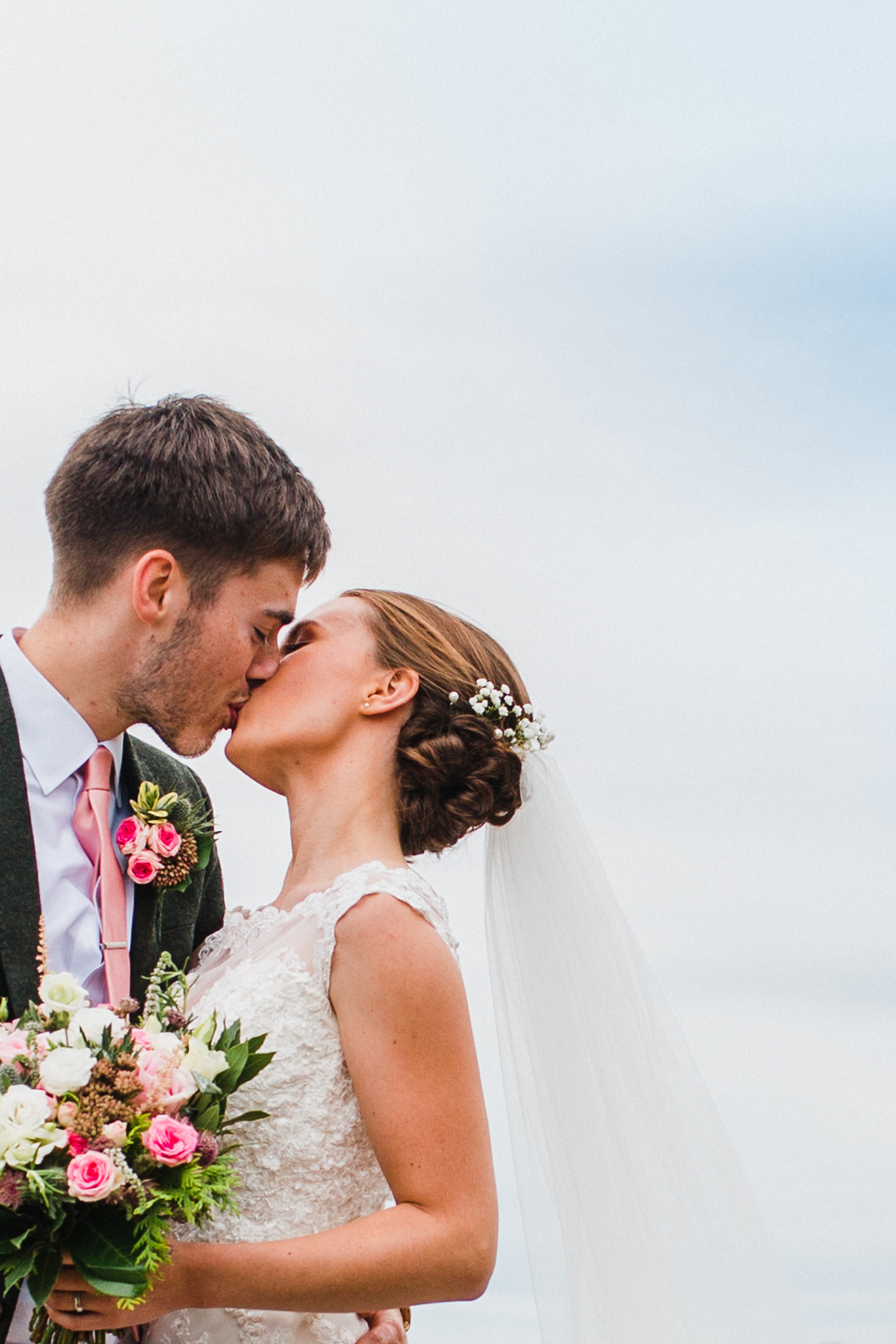 Jess and Ben - Liverpool wedding - bride and groom kissing