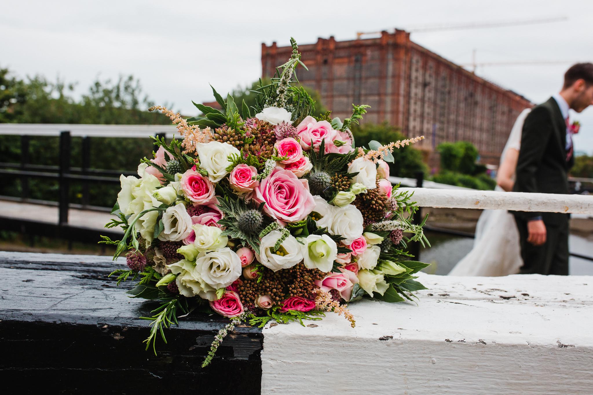 Jess and Ben - Liverpool wedding - bridal flower bouquet