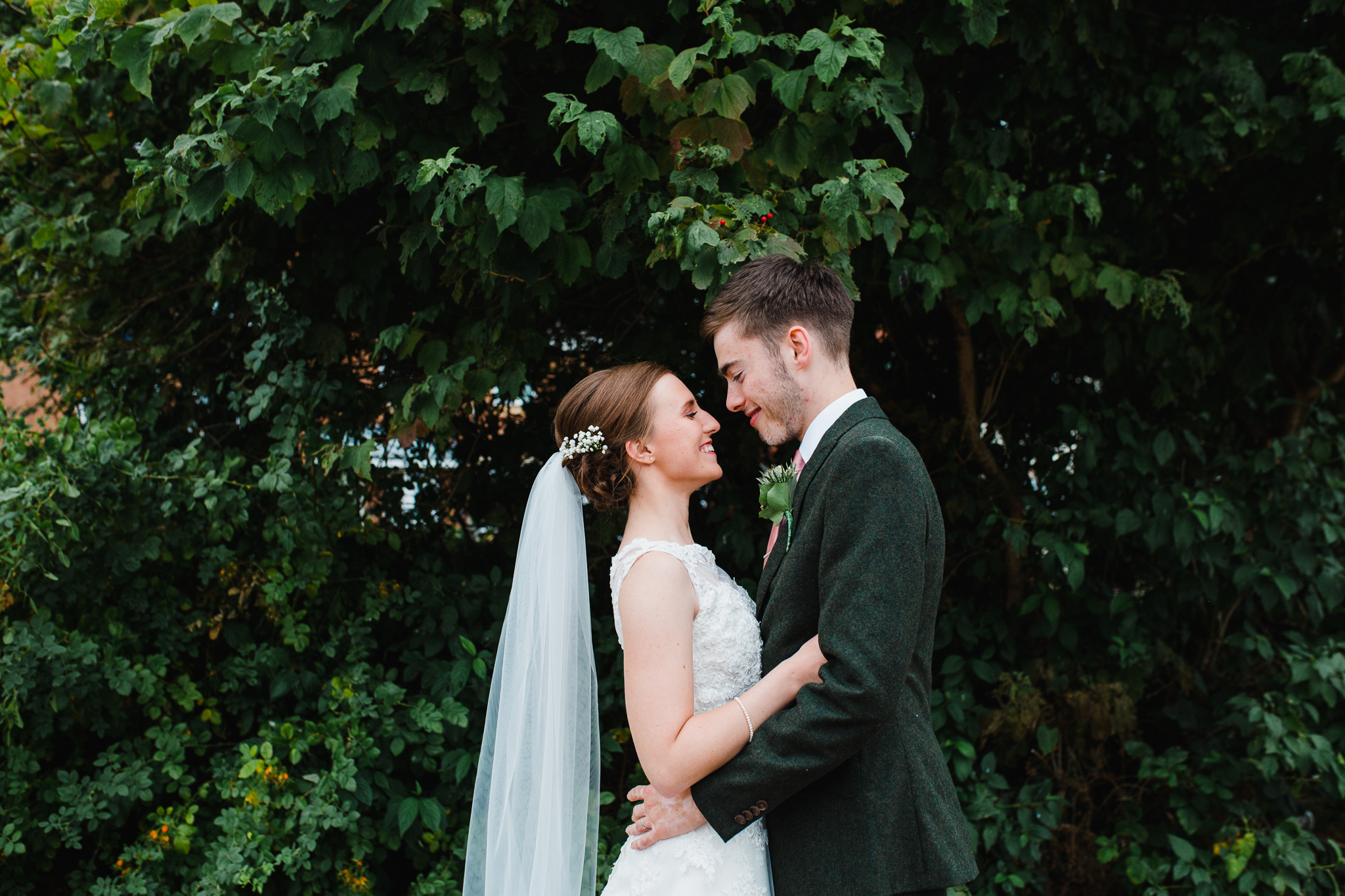 Jess and Ben - Liverpool wedding - bride and groom embracing