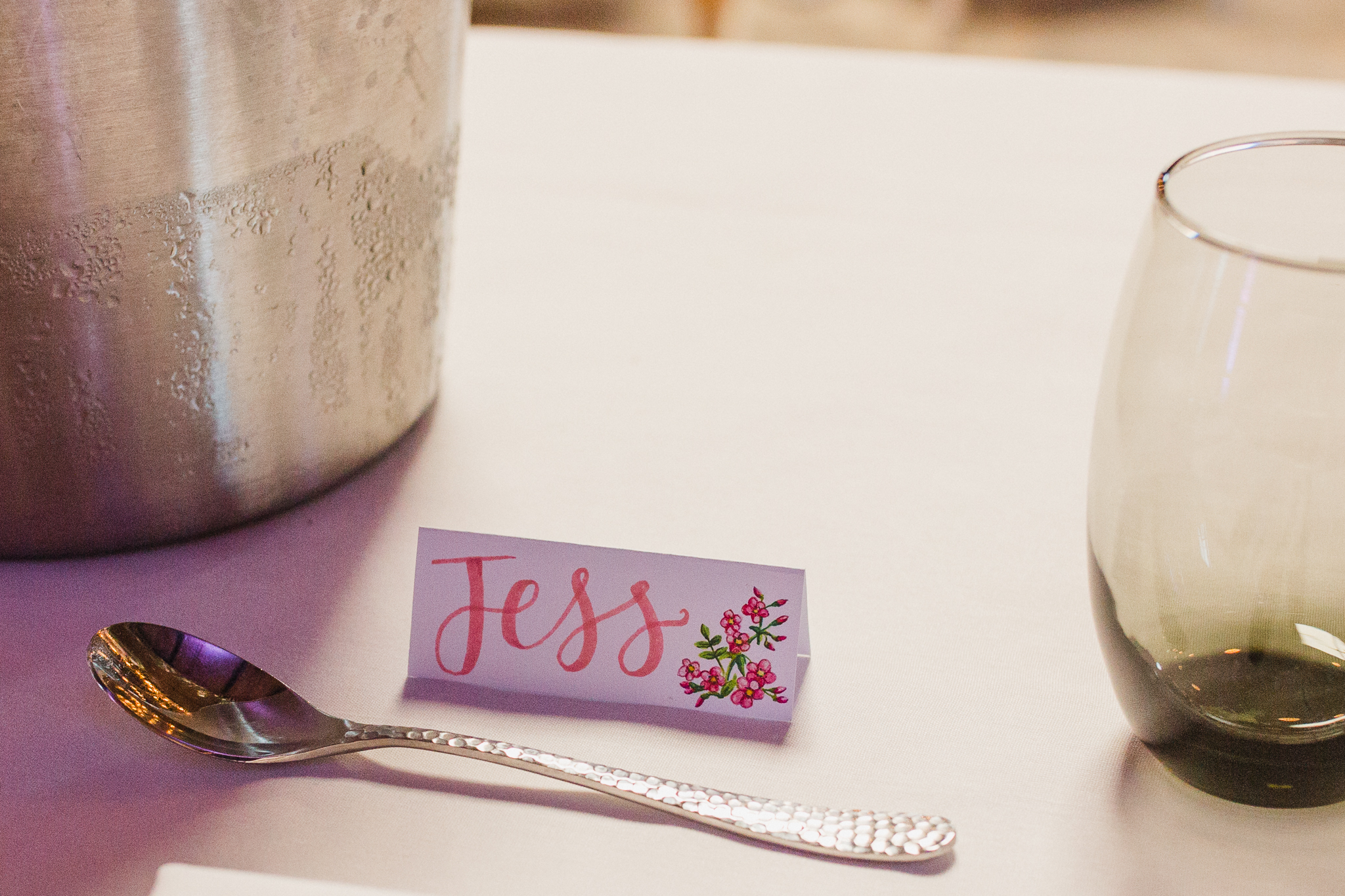 Jess and Ben - Liverpool wedding - table details