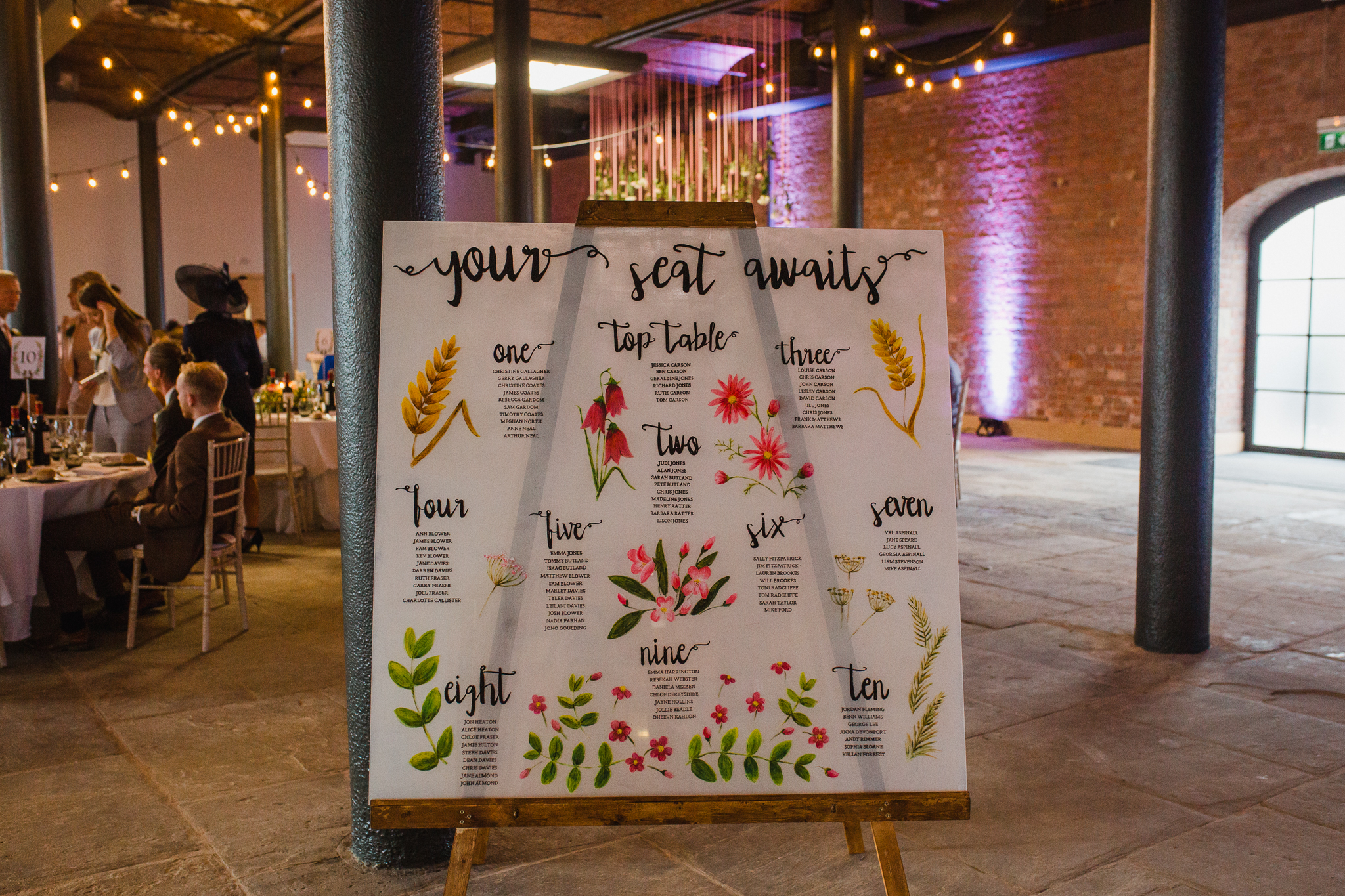 Jess and Ben - Liverpool wedding - table setting