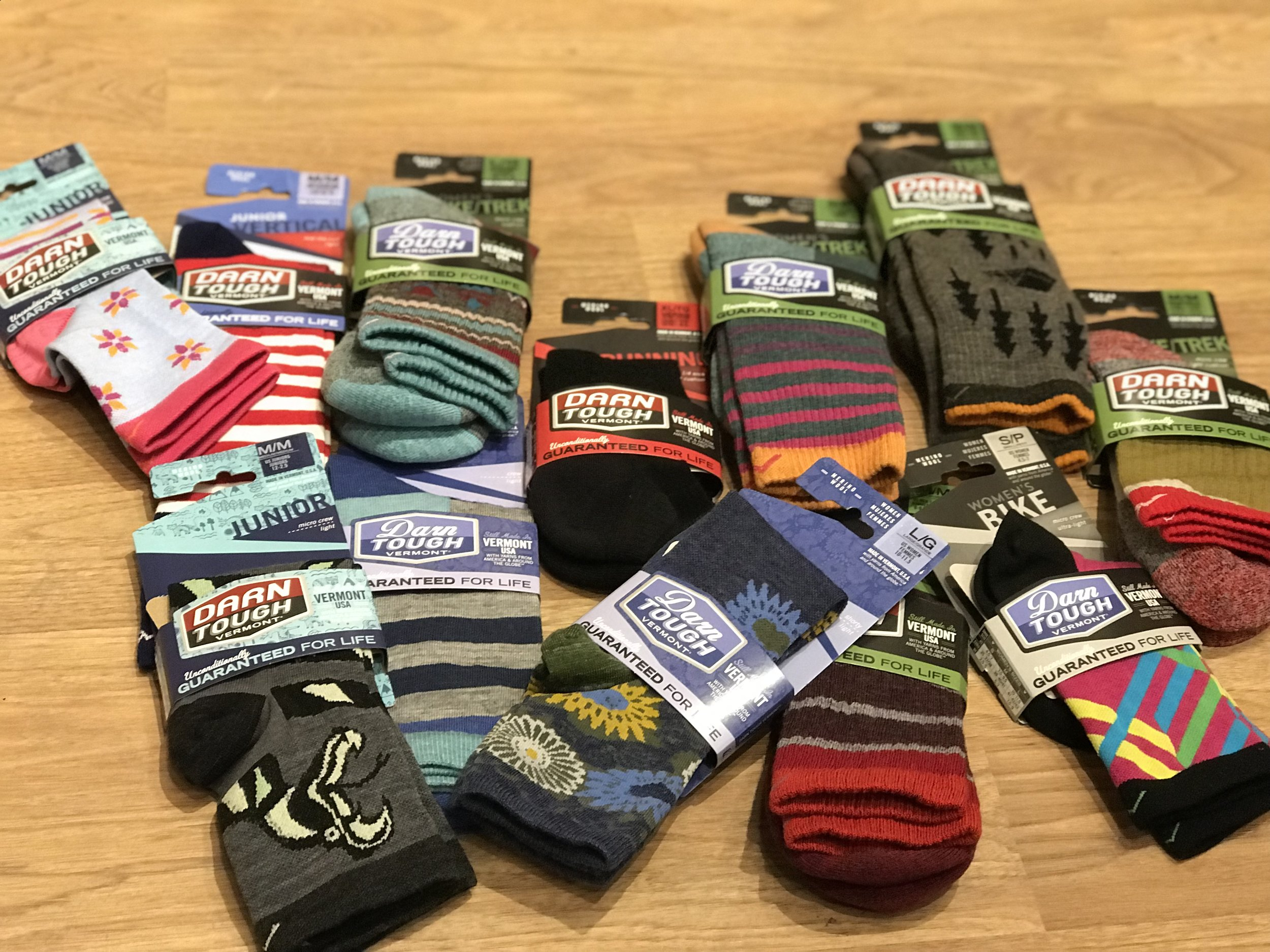 MADE IN VERMONT:      Darn Tough Socks