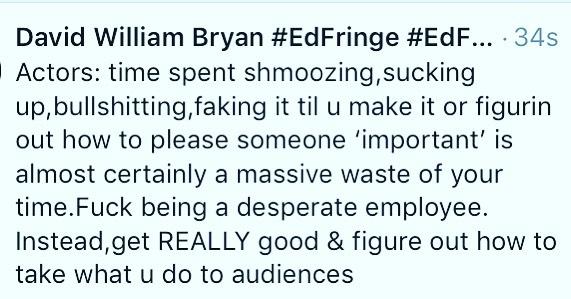 For my actor mates. . . #edfringe #edfringe2019 #makeyourfringe #edfringe19 #edinburghfringe #edinburgh #edinburghfringefestival #edinburghfestivalfringe #theatre #actor