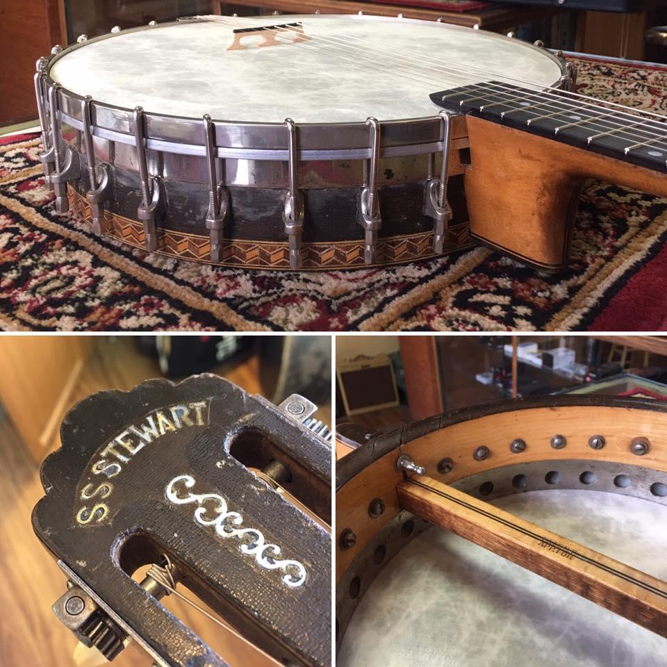 1900's S.S. Stewart banjo guitar