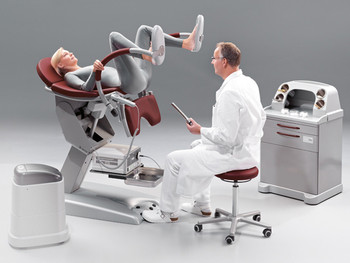 Proctology examination chair
