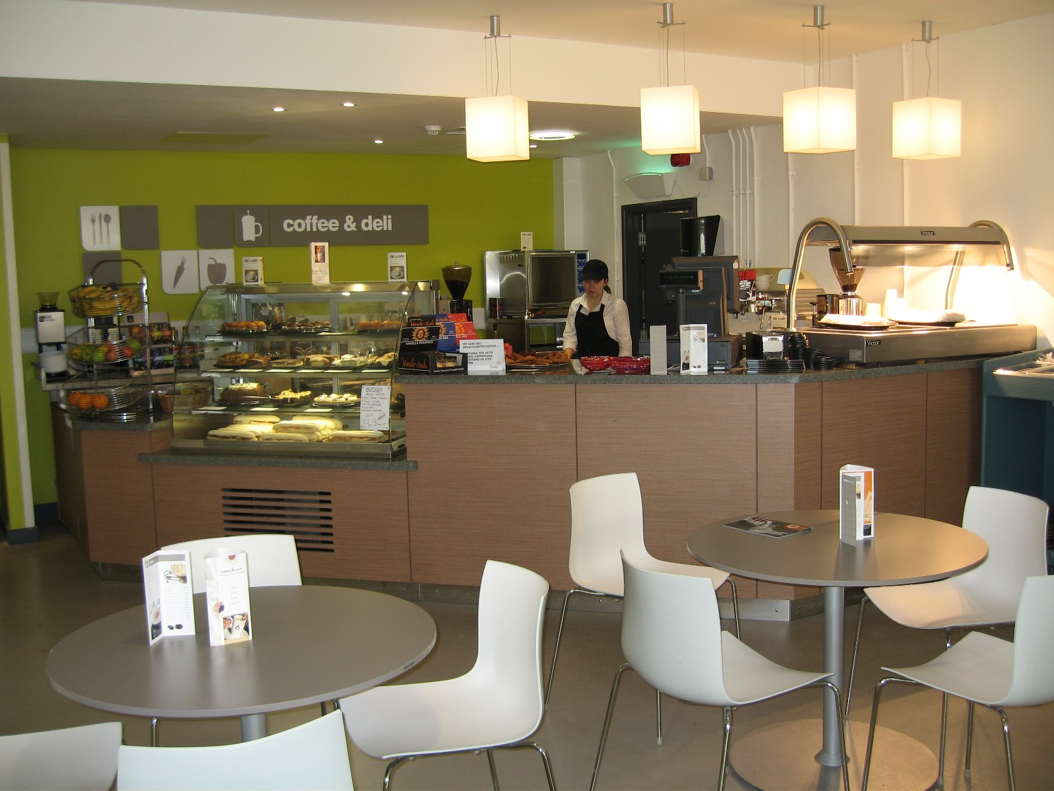 Sterling Foodservice Consultancy also designed a good barista served coffee shop.