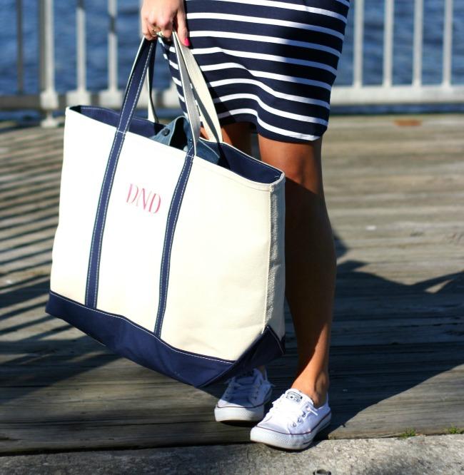 ll bean tote bag nautical dress